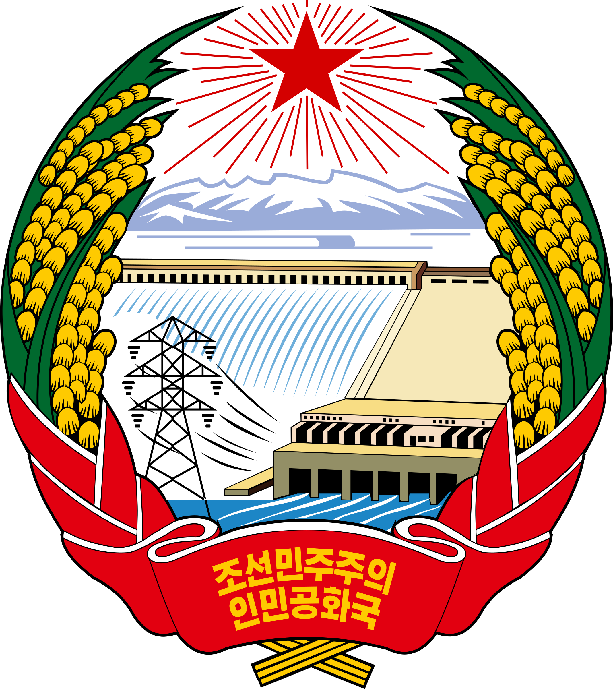 Emblem of North Korea by j4p4n