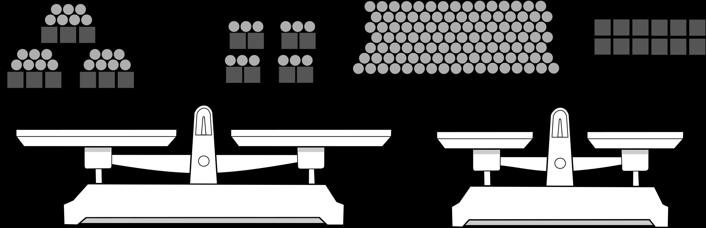 Waagen-Modell für Gleichungen by B.Lachner