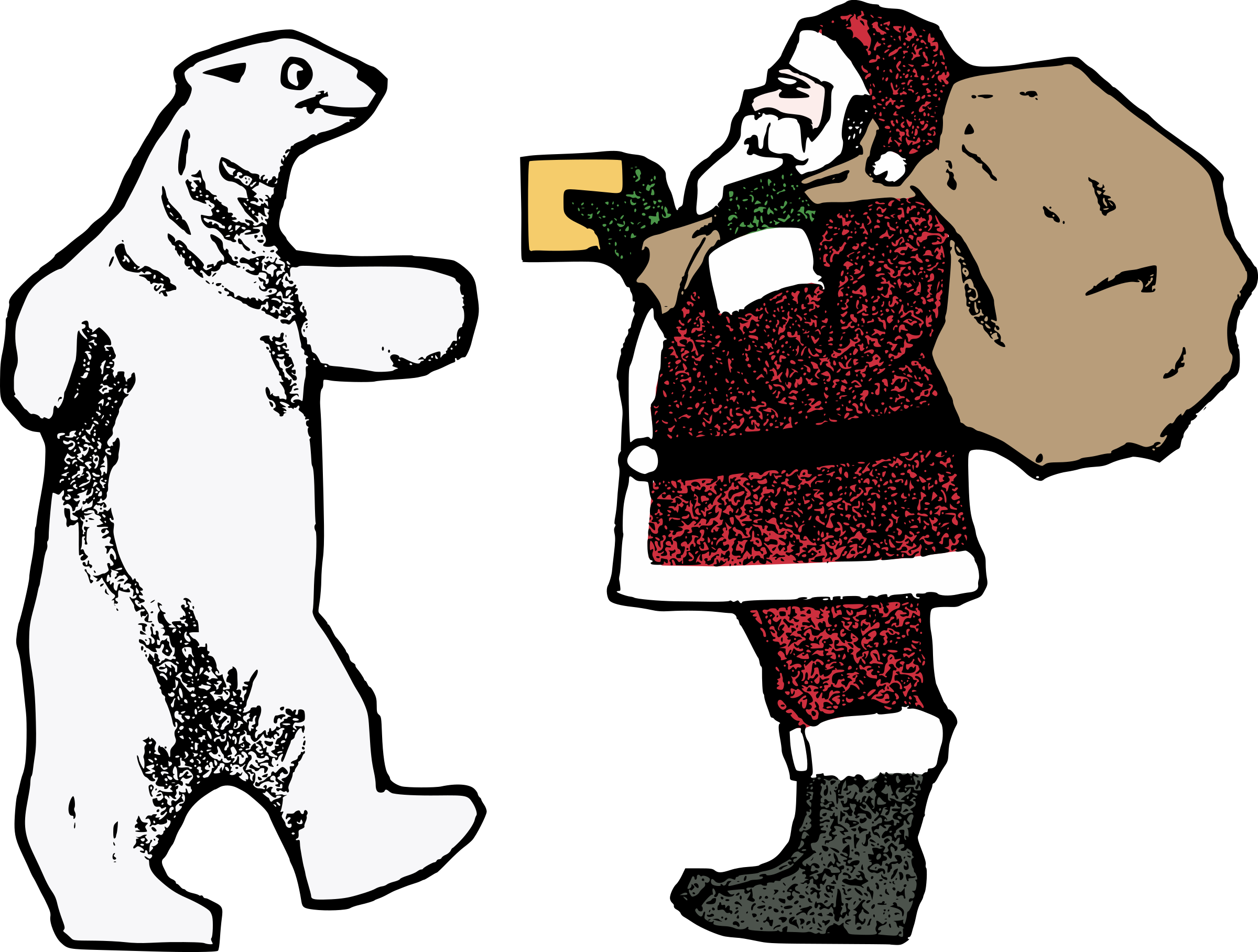 Santa and the Polar Bear by j4p4n