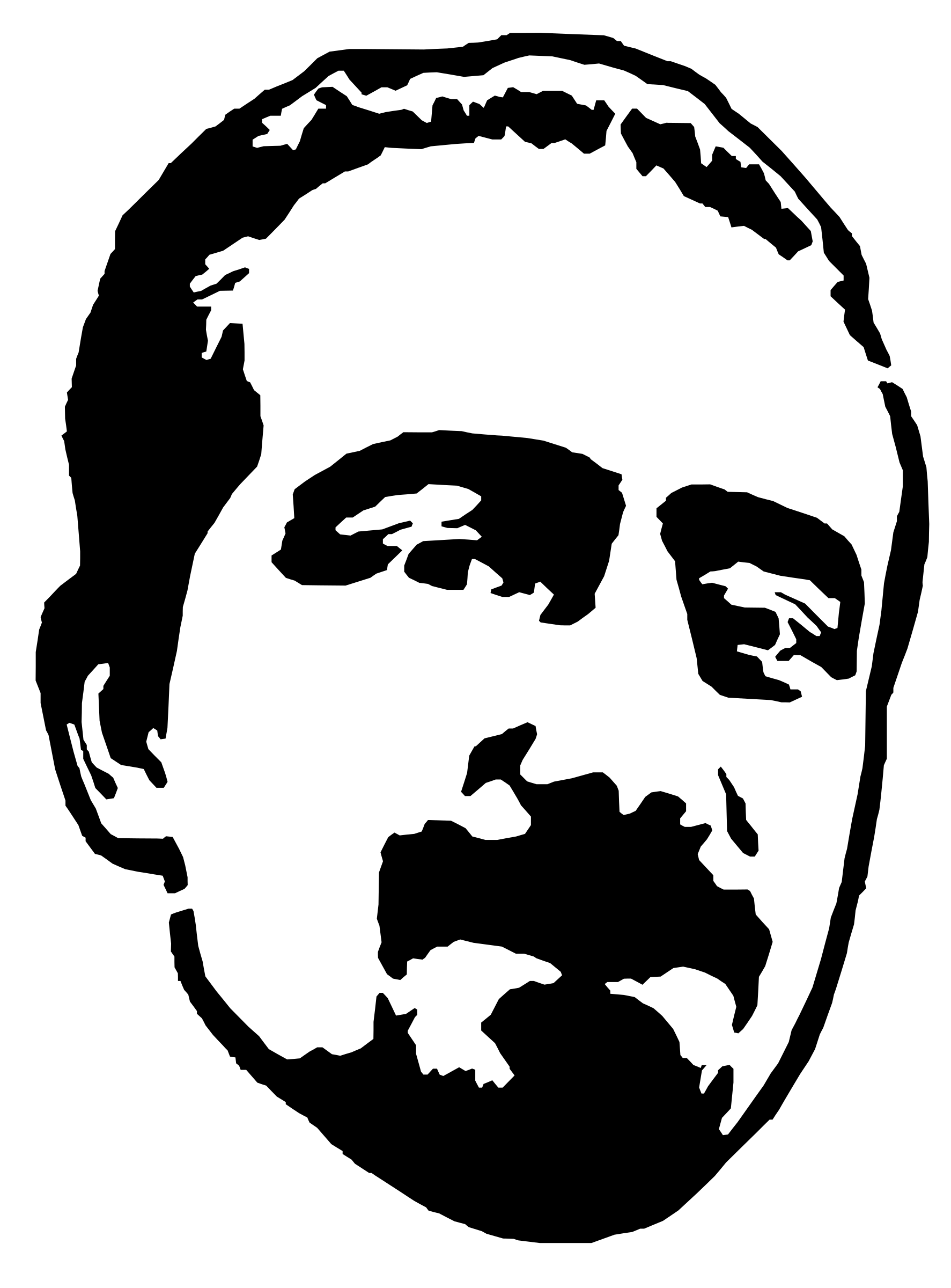 Freebassel Stencil Head Graphic by rejon