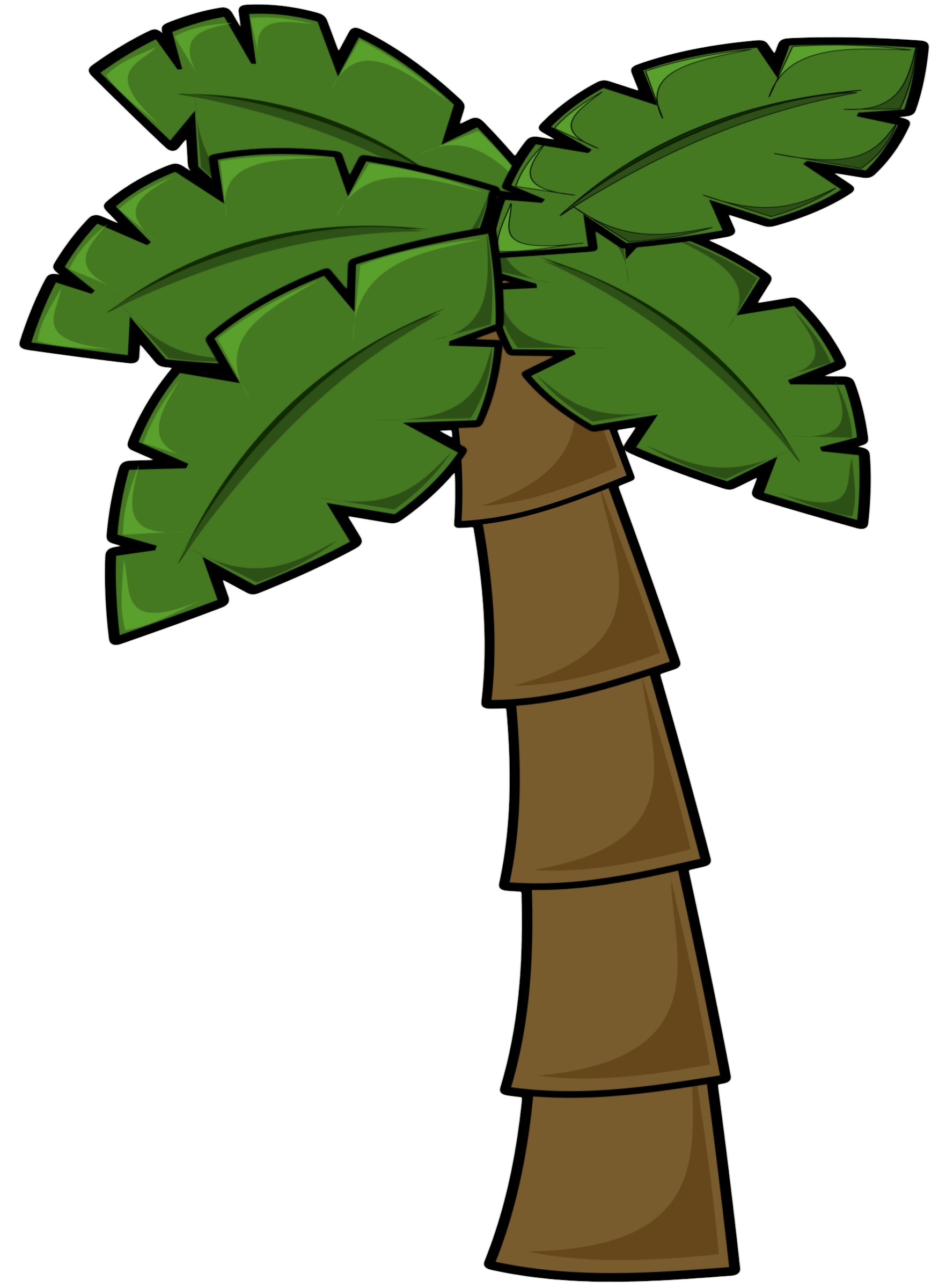 Brighter palm tree by Wuzzy
