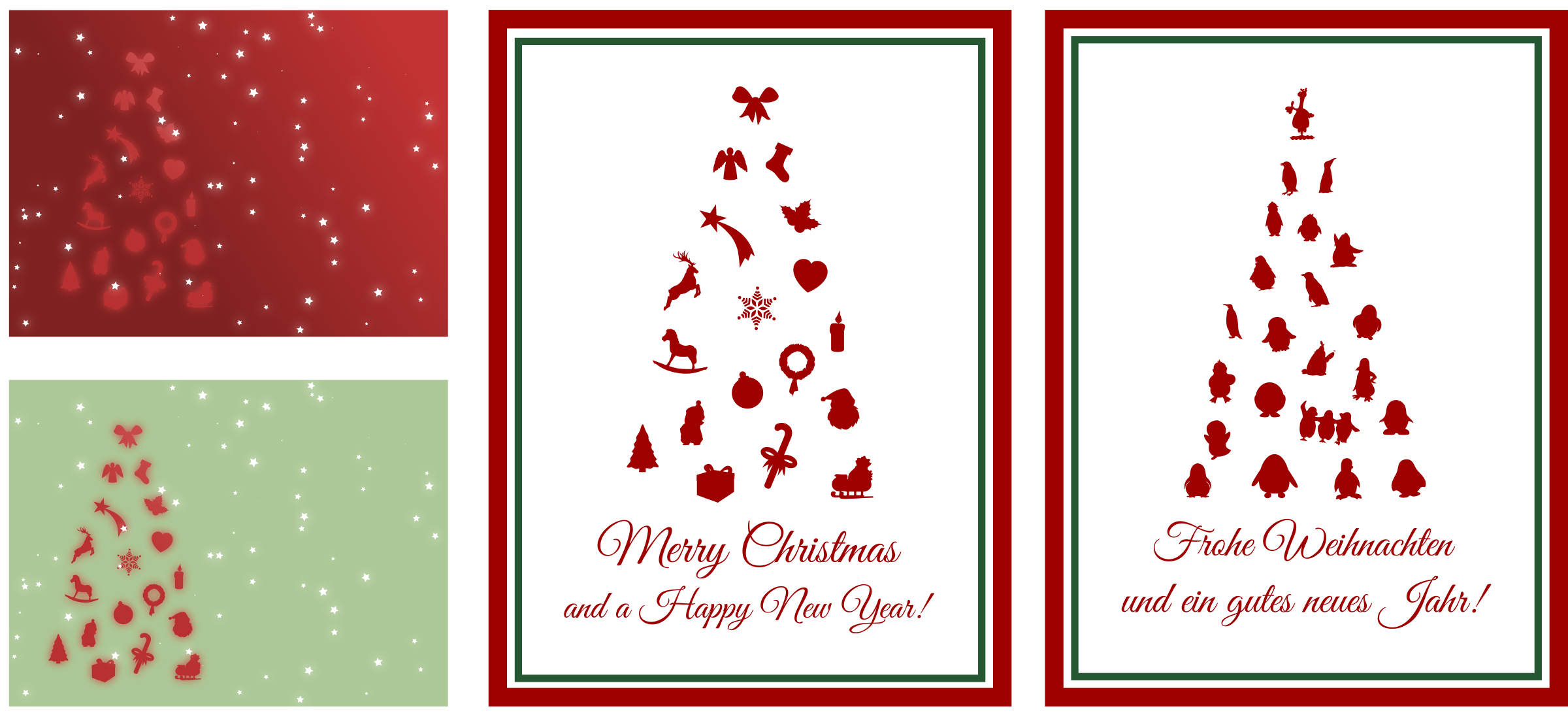 Assorted Christmas Cards by Moini
