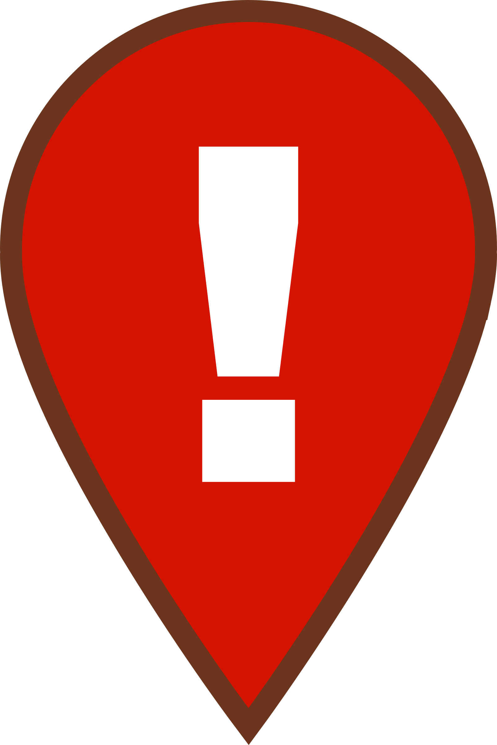 Map Warning Icon by qubodup