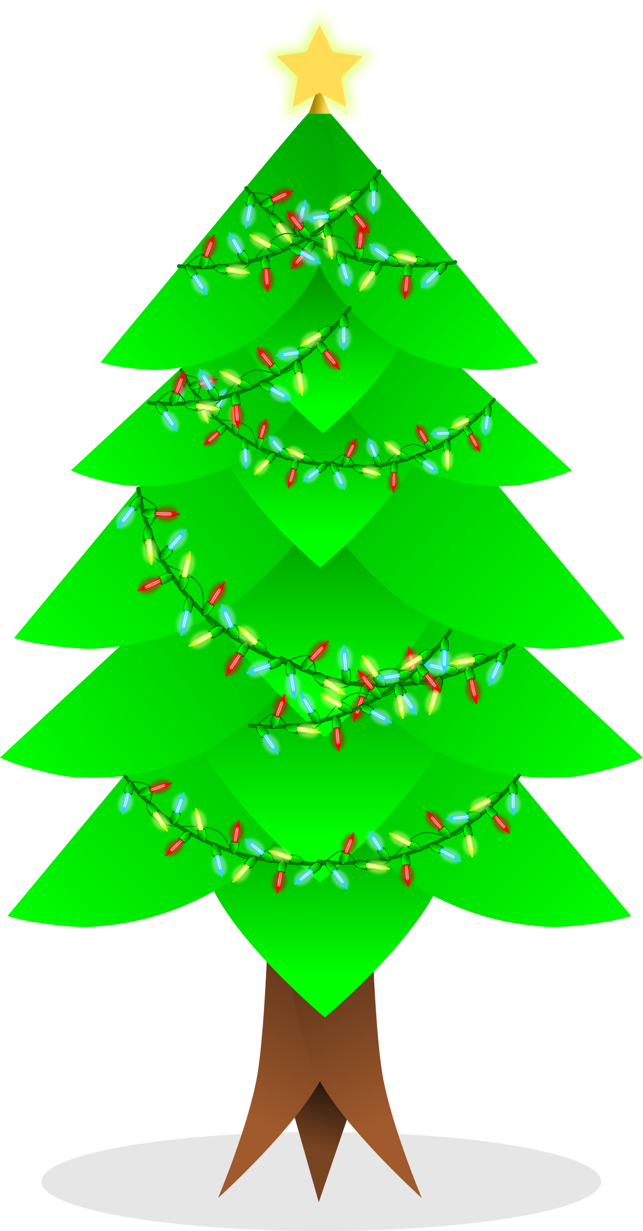 Christmas tree vector by Arya wigunavadhana