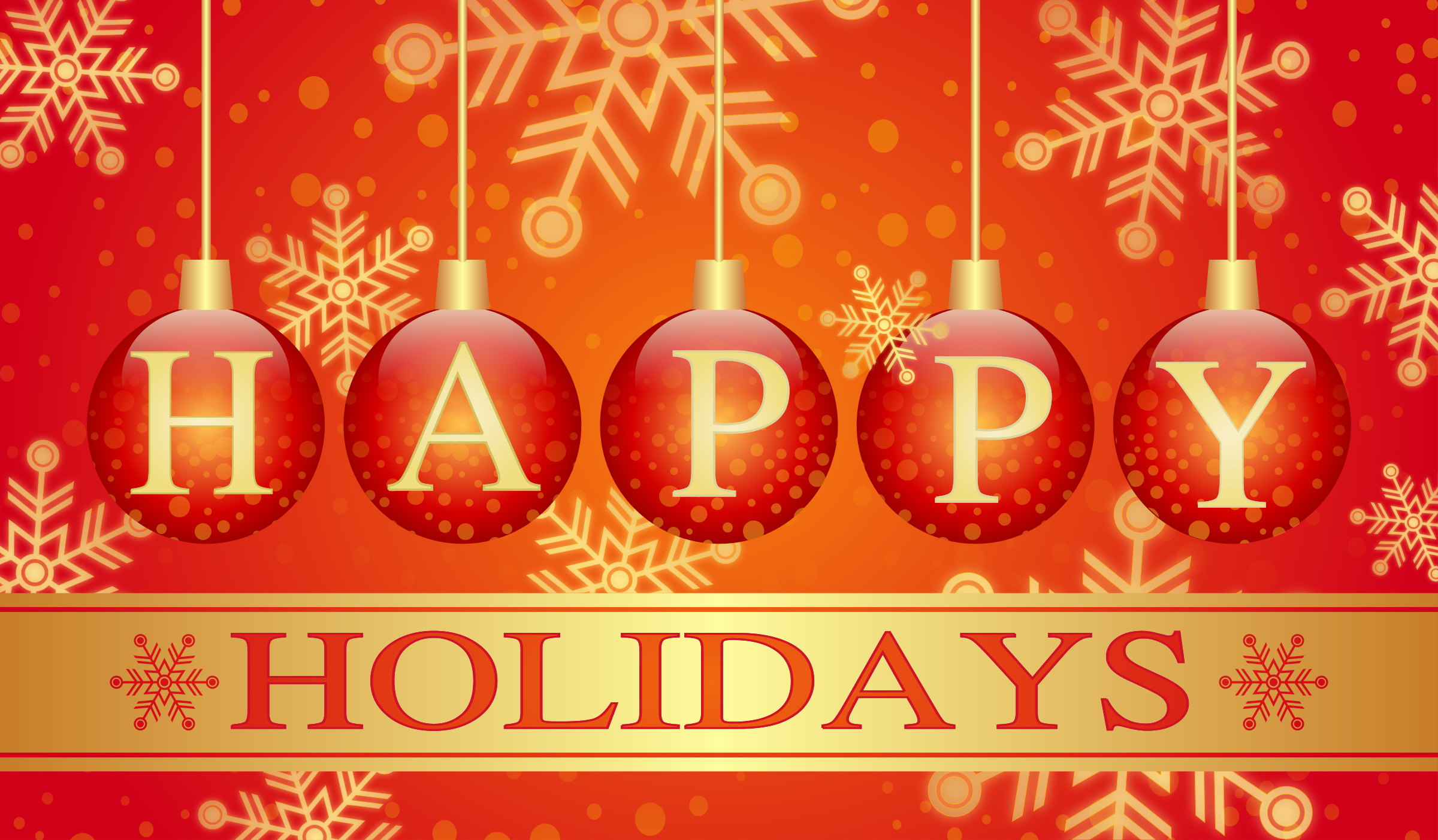 Clipart Happy Holidays Card