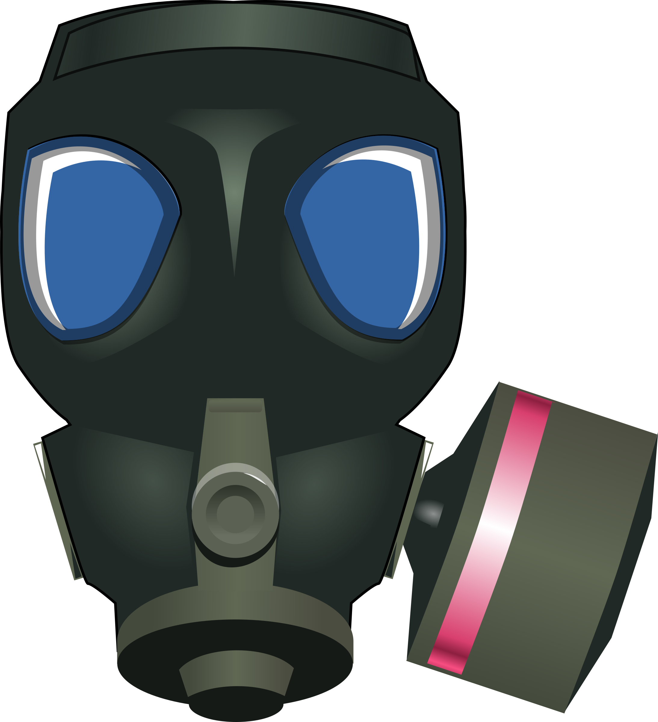 gas mask by rg1024