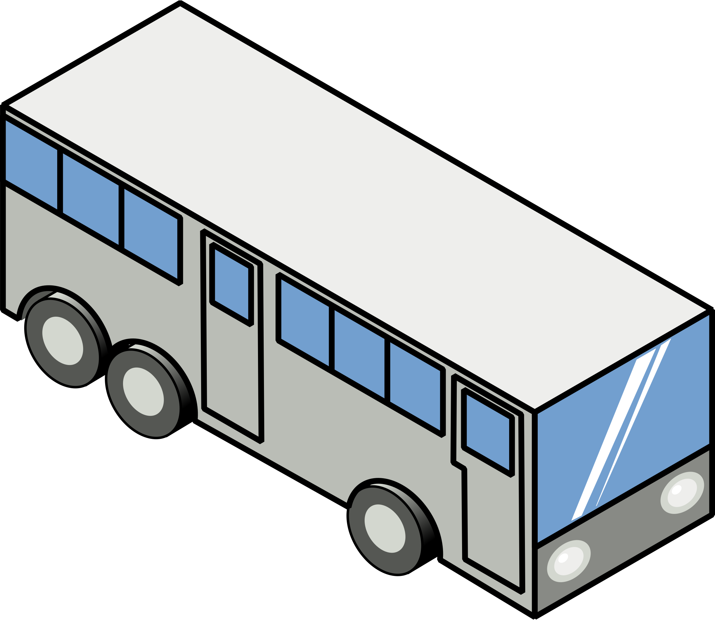Bus (isometric icon) by rg1024