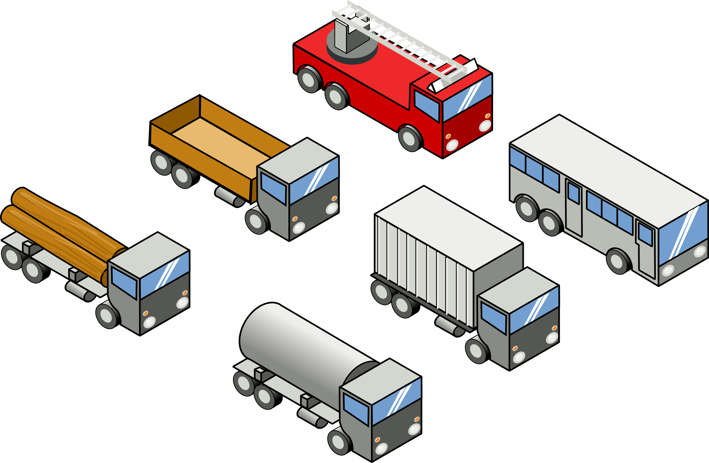 Six isometric vehicles by rg1024