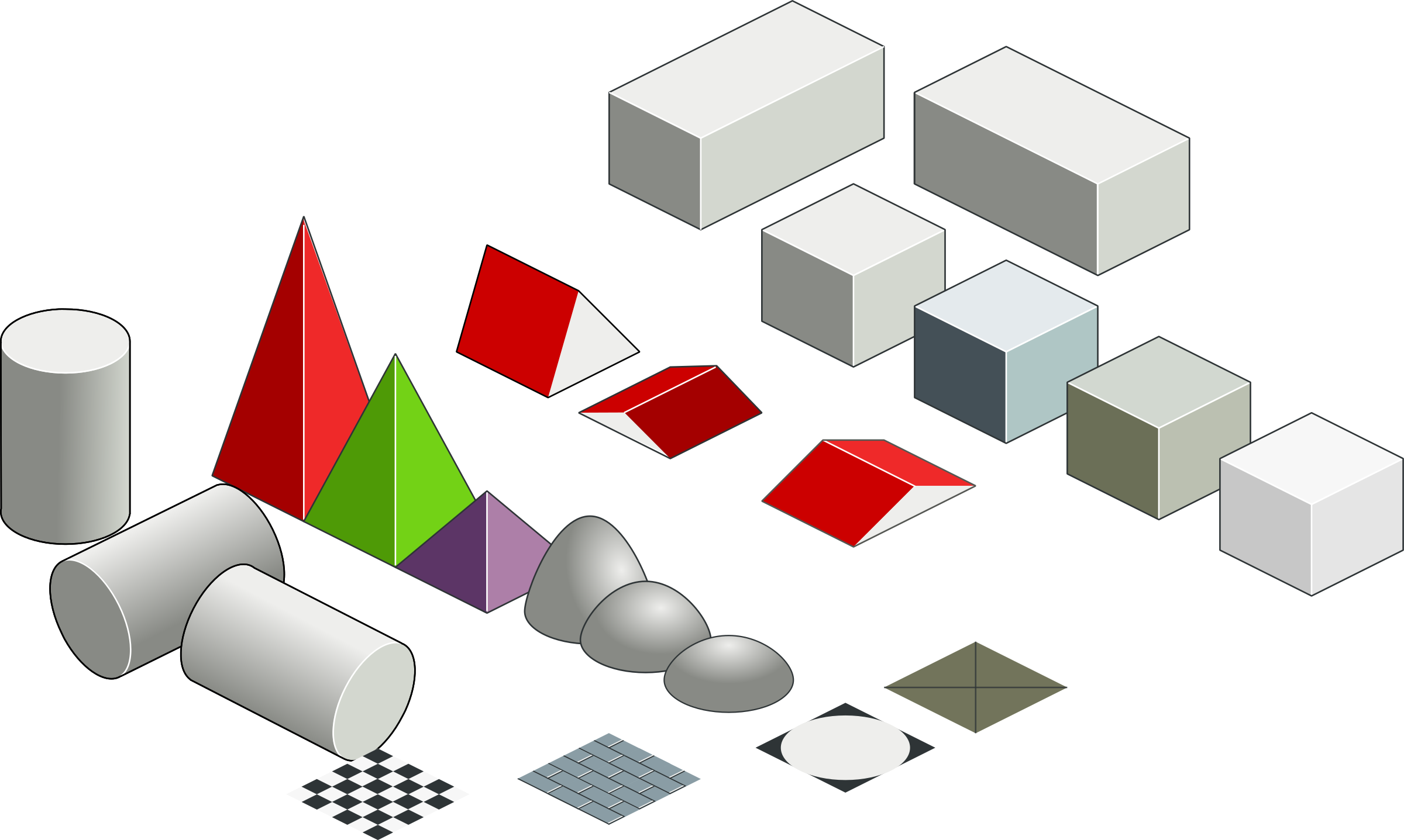 Set of basic isometric figures by rg1024
