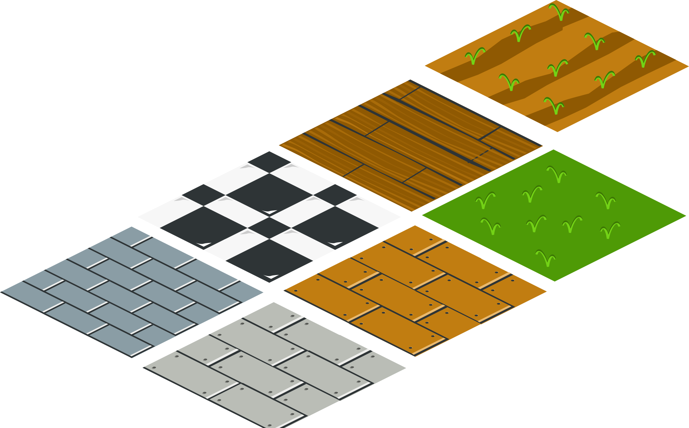 Clipart isometric floor tile