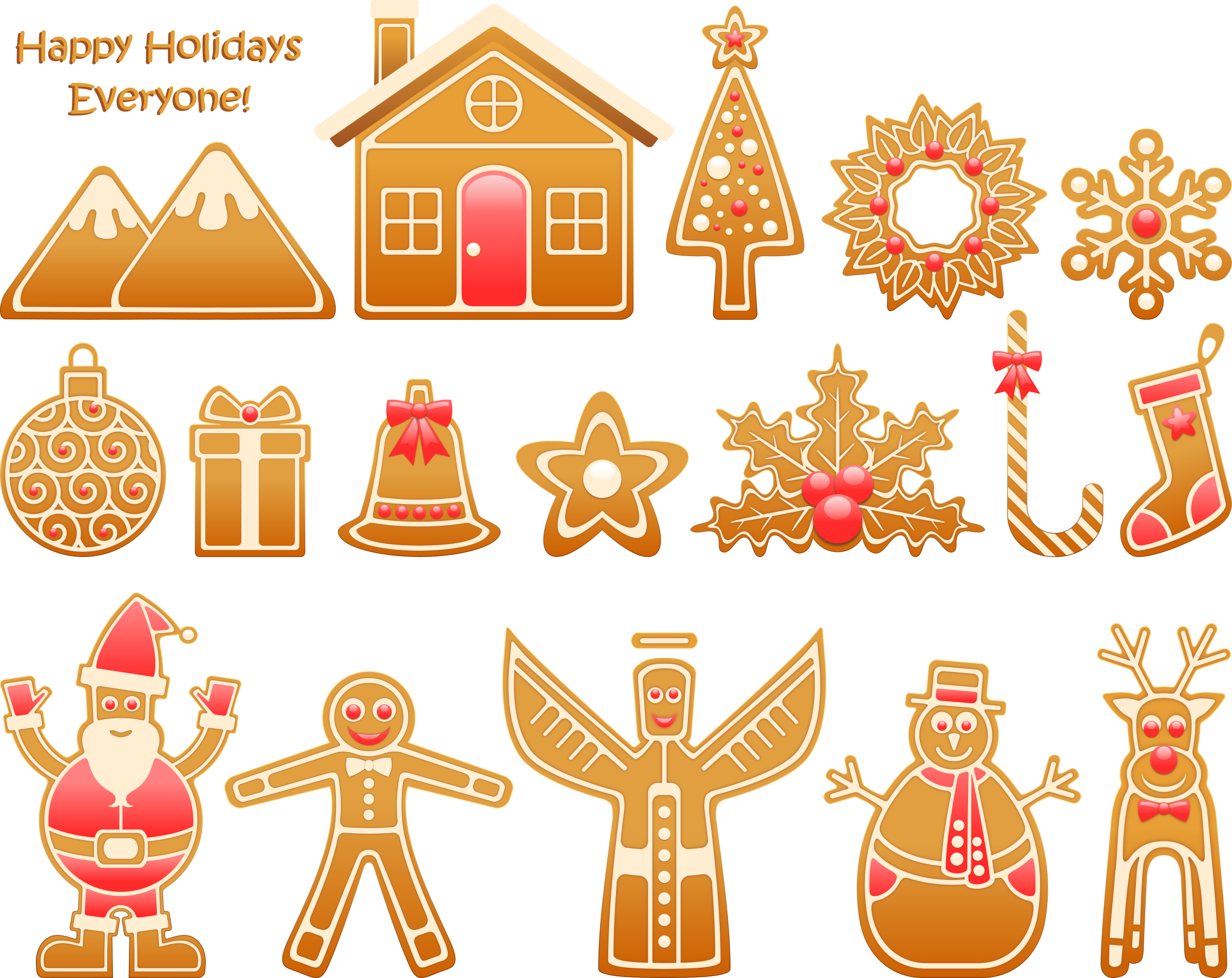 Gingerbread Xmas Set by Viscious-Speed