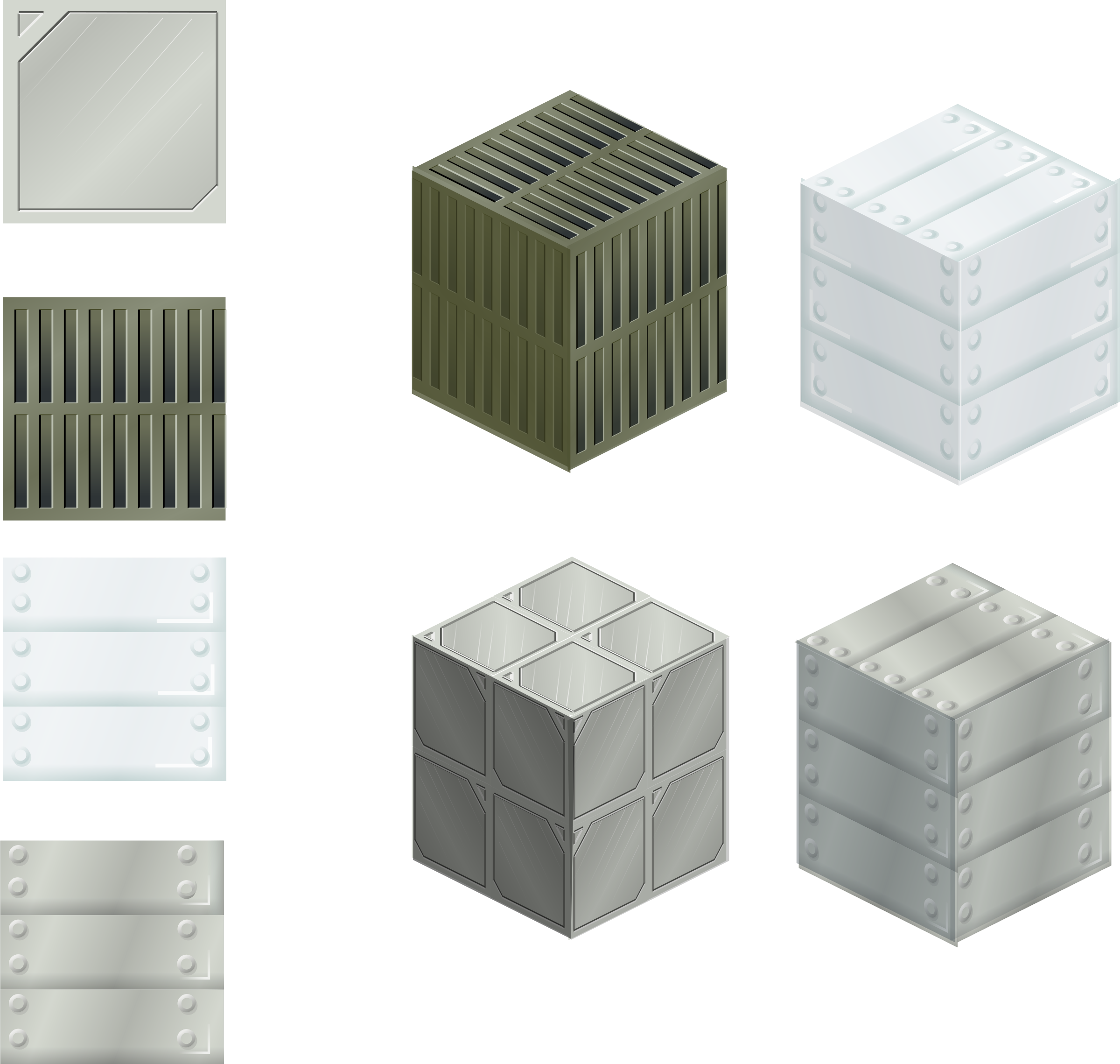 set of metalic tiles by rg1024