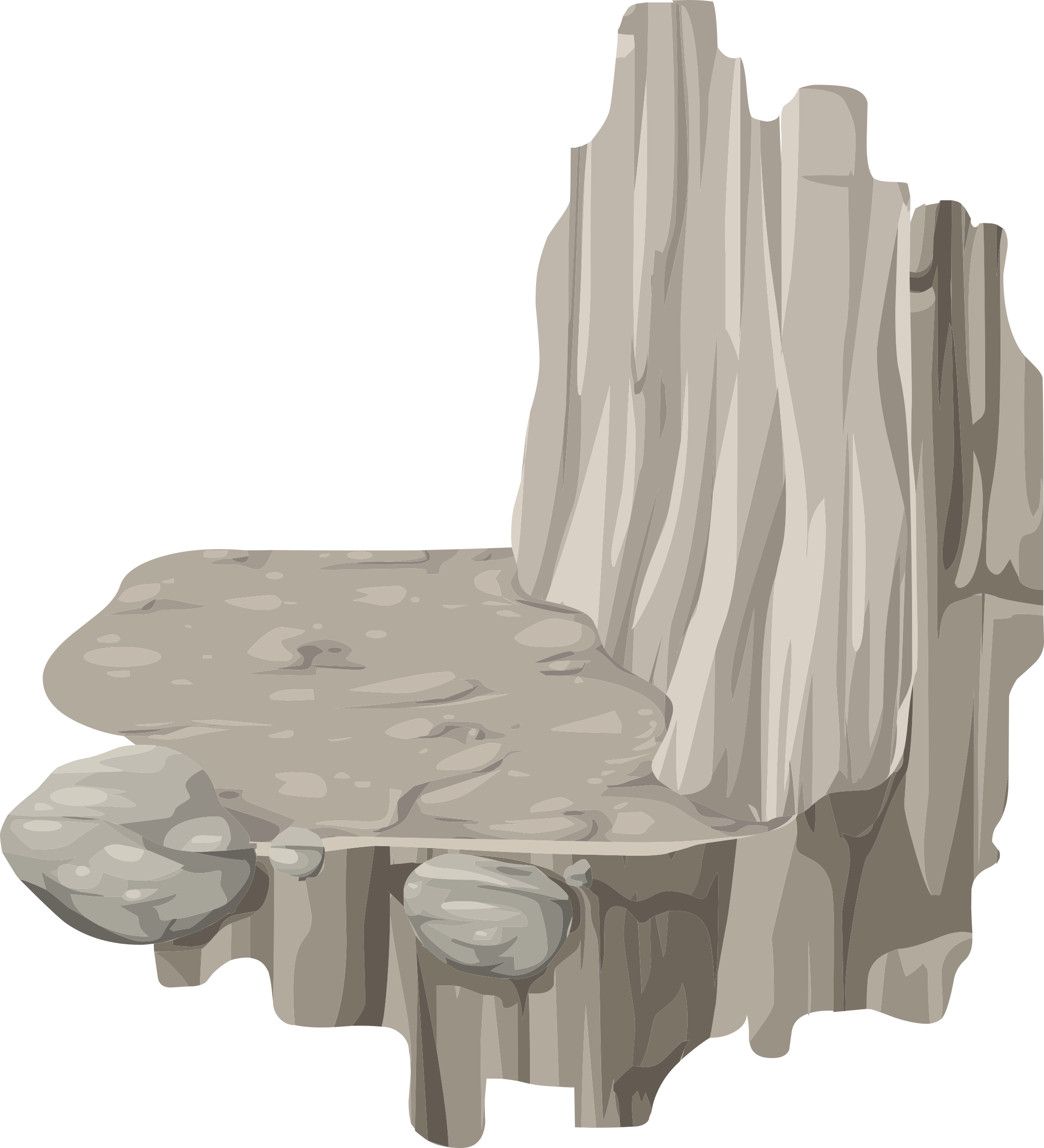 Alpine Landscape Platform Horizontal Ledge Corner Right Bottom Mountaineering 01b Al1 by glitch