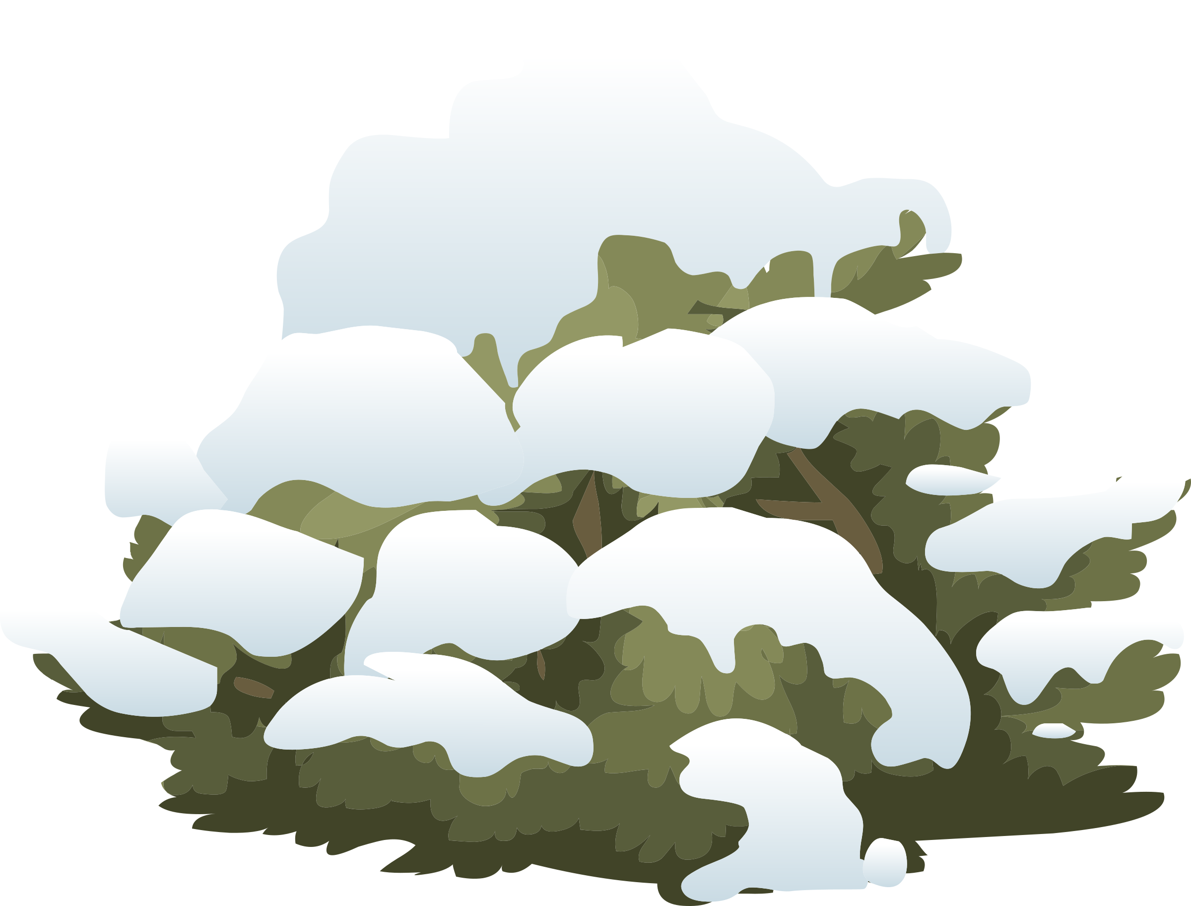 Alpine Landscape Snow Bush 01b Al1 by glitch
