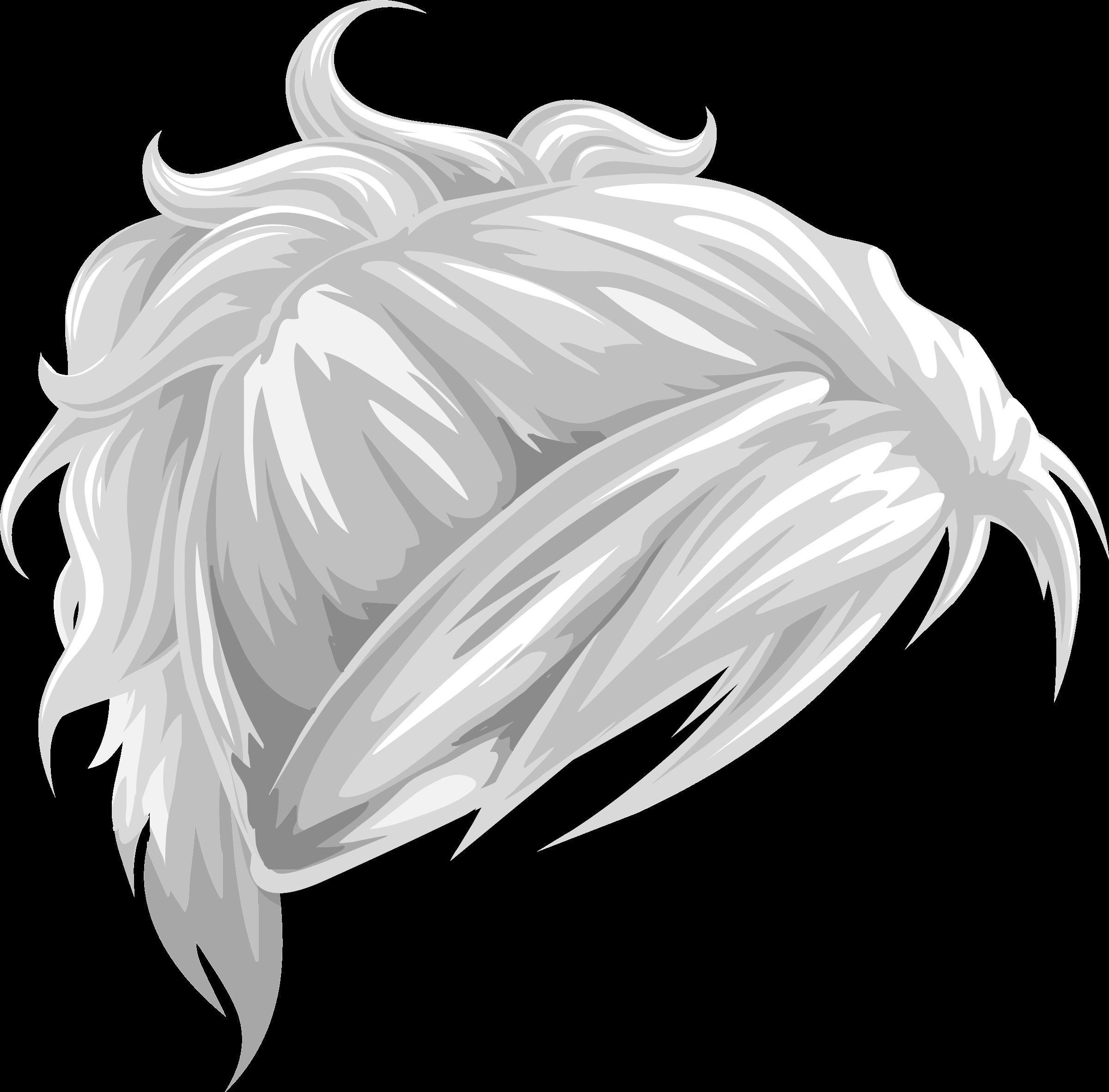 Clipart Avatar Vanity Hair Wavy Tieback Ponytail