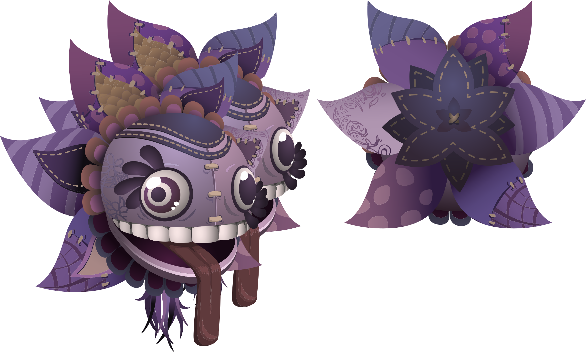 Avatar Wardrobe Hat Purpleflower Mask by glitch
