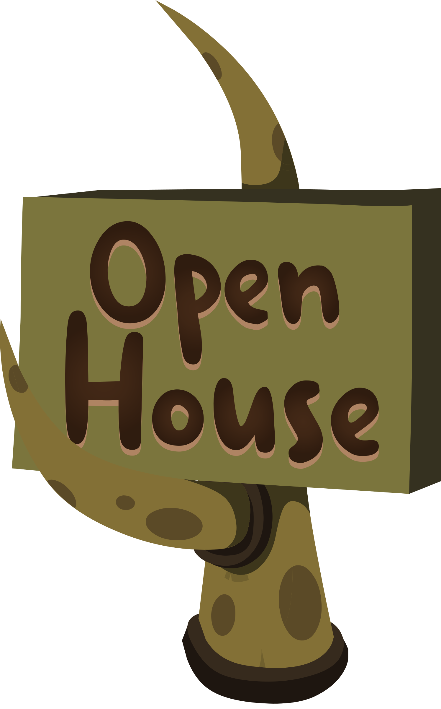 Firebog Open House Sign by glitch