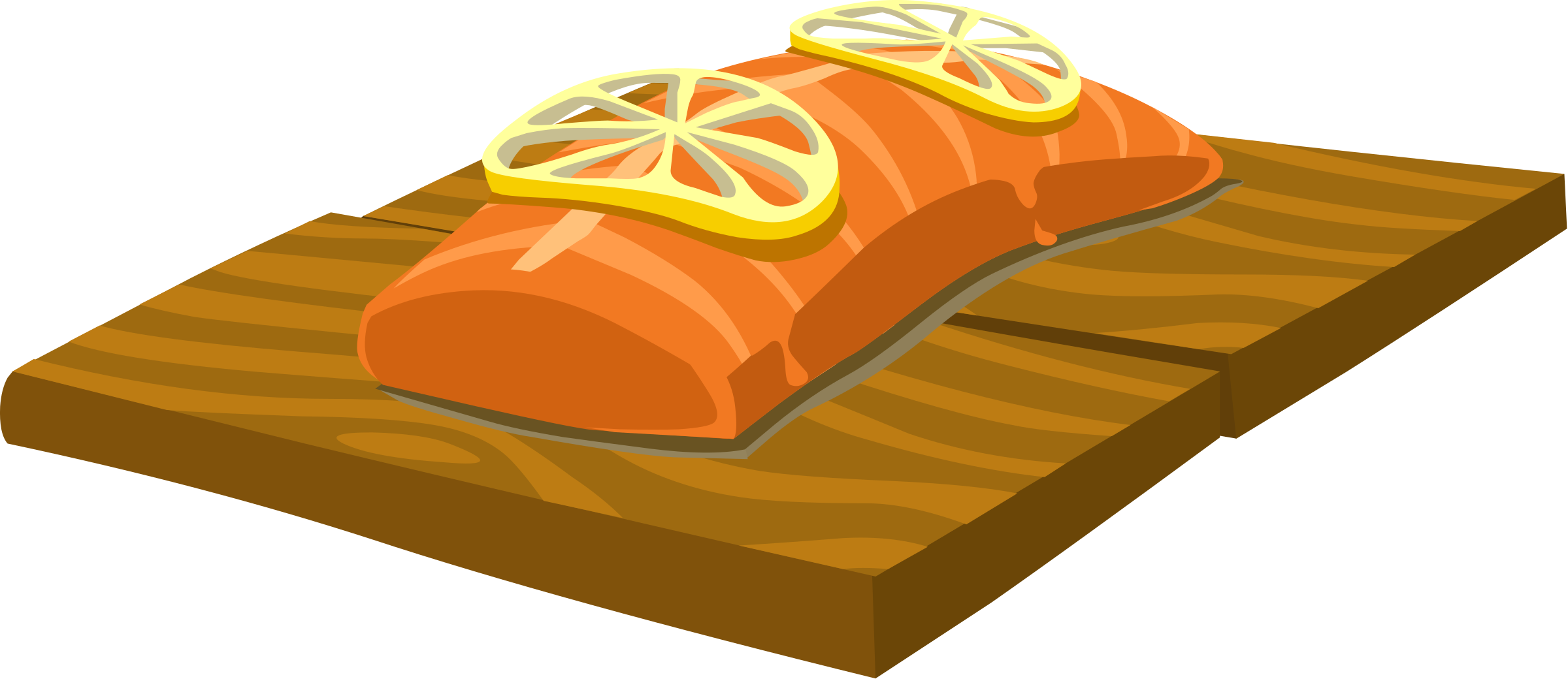 Food Cedar Plank Salmon by glitch