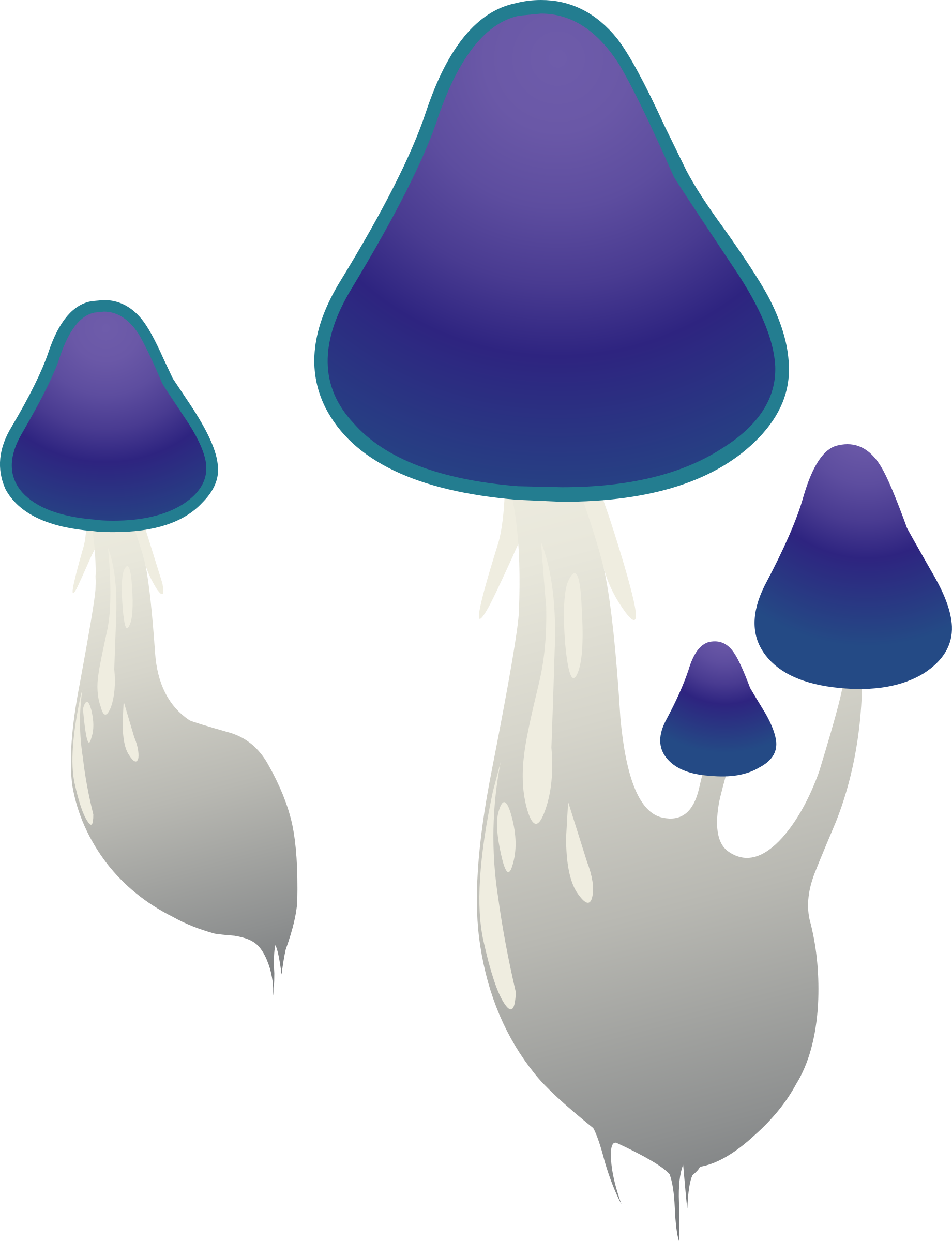 Ilmenskie Purple Mushroom 1 by glitch
