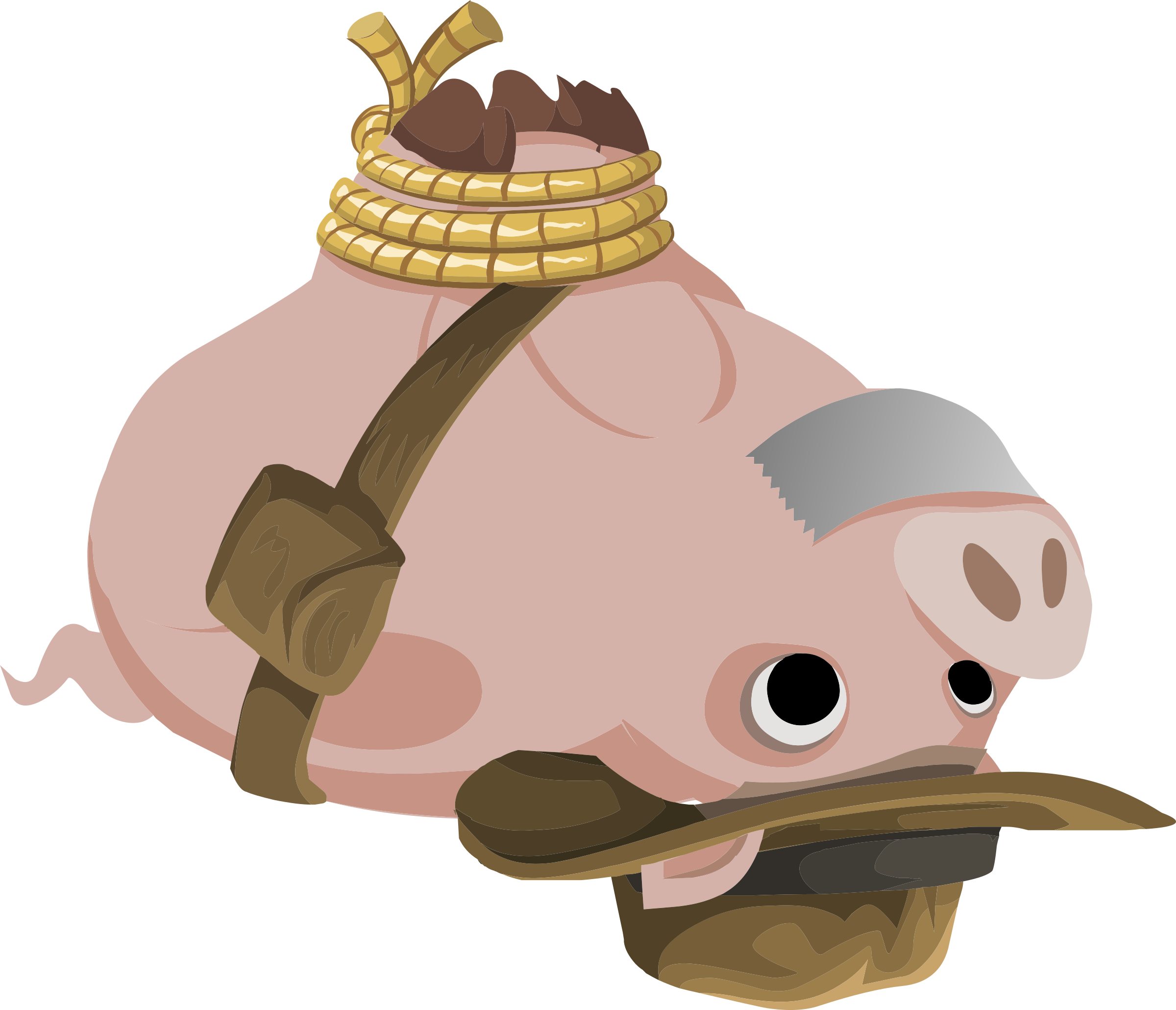 Inhabitants Hogtied Piggy Explorer by glitch