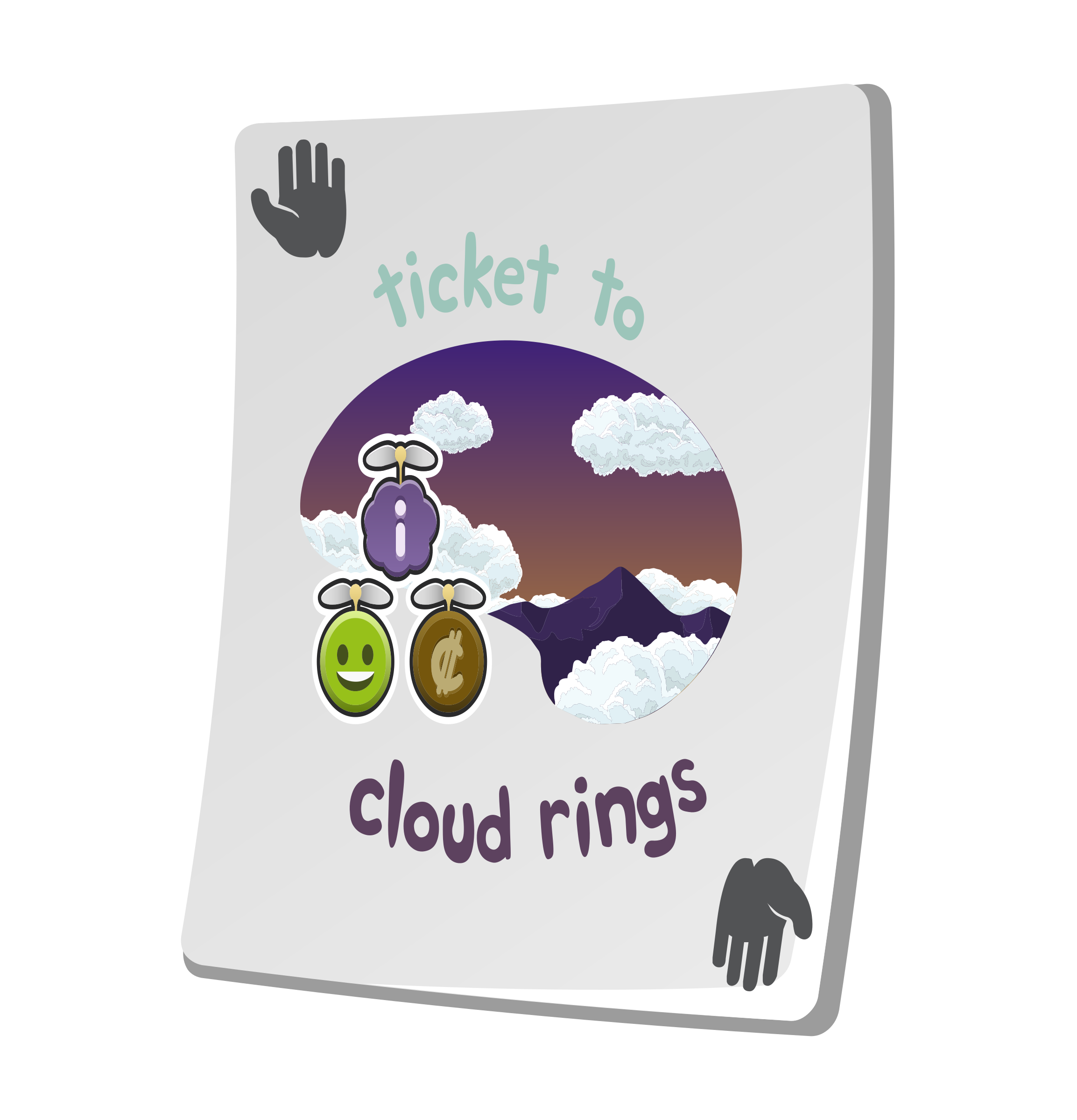 Misc Paradise Ticket Cloud Rings by glitch