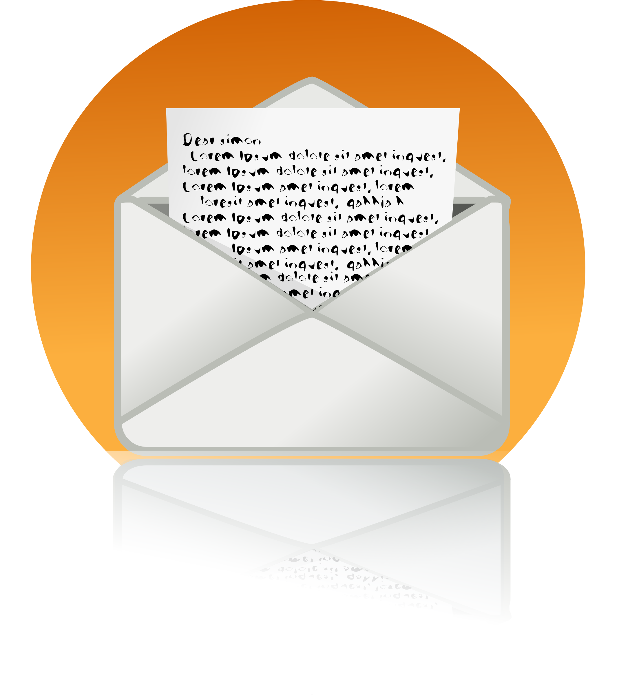big mail icon by rg1024