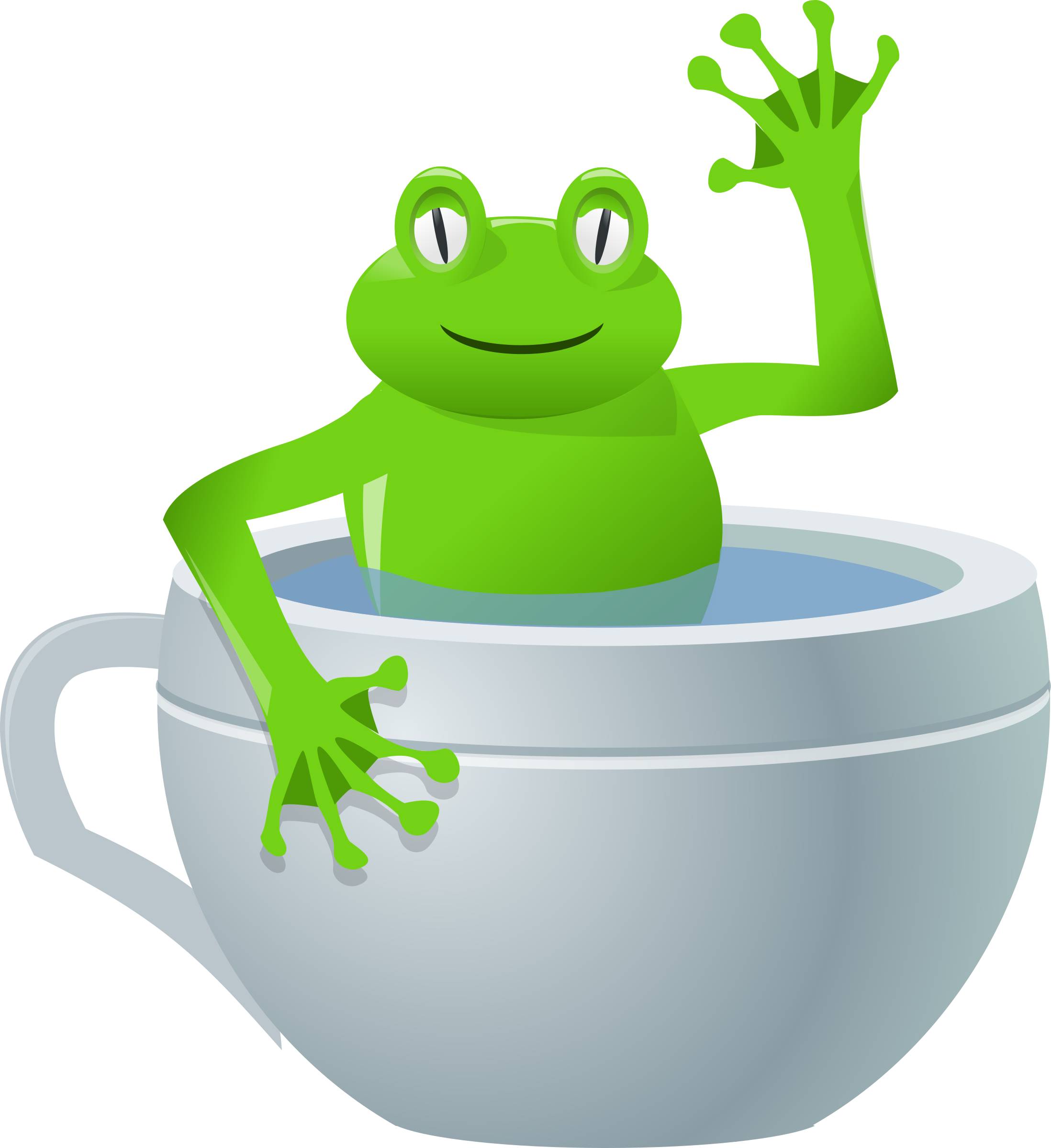 unexpected frog in my tea by rg1024