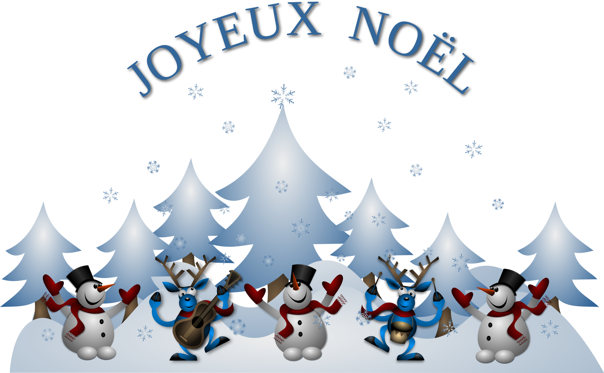 Joyeux Noel Card Front by Merlin2525