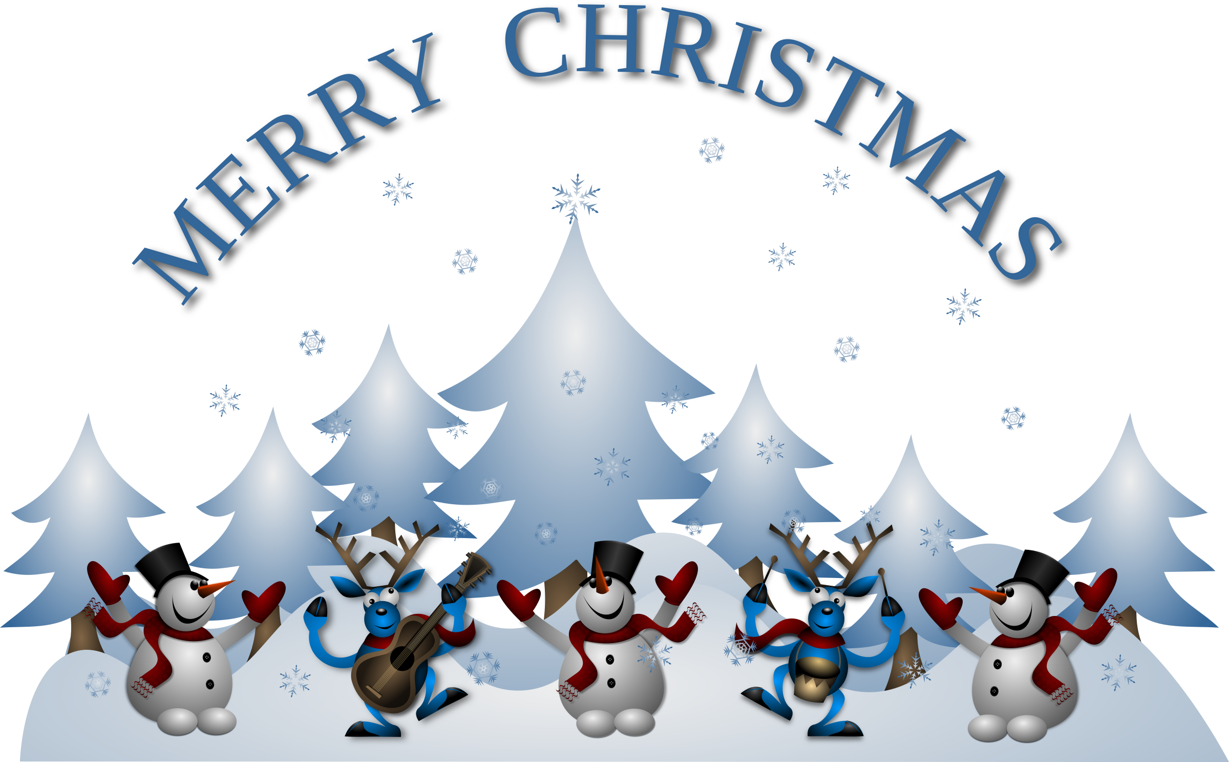 Merry Christmas Card Front by Merlin2525