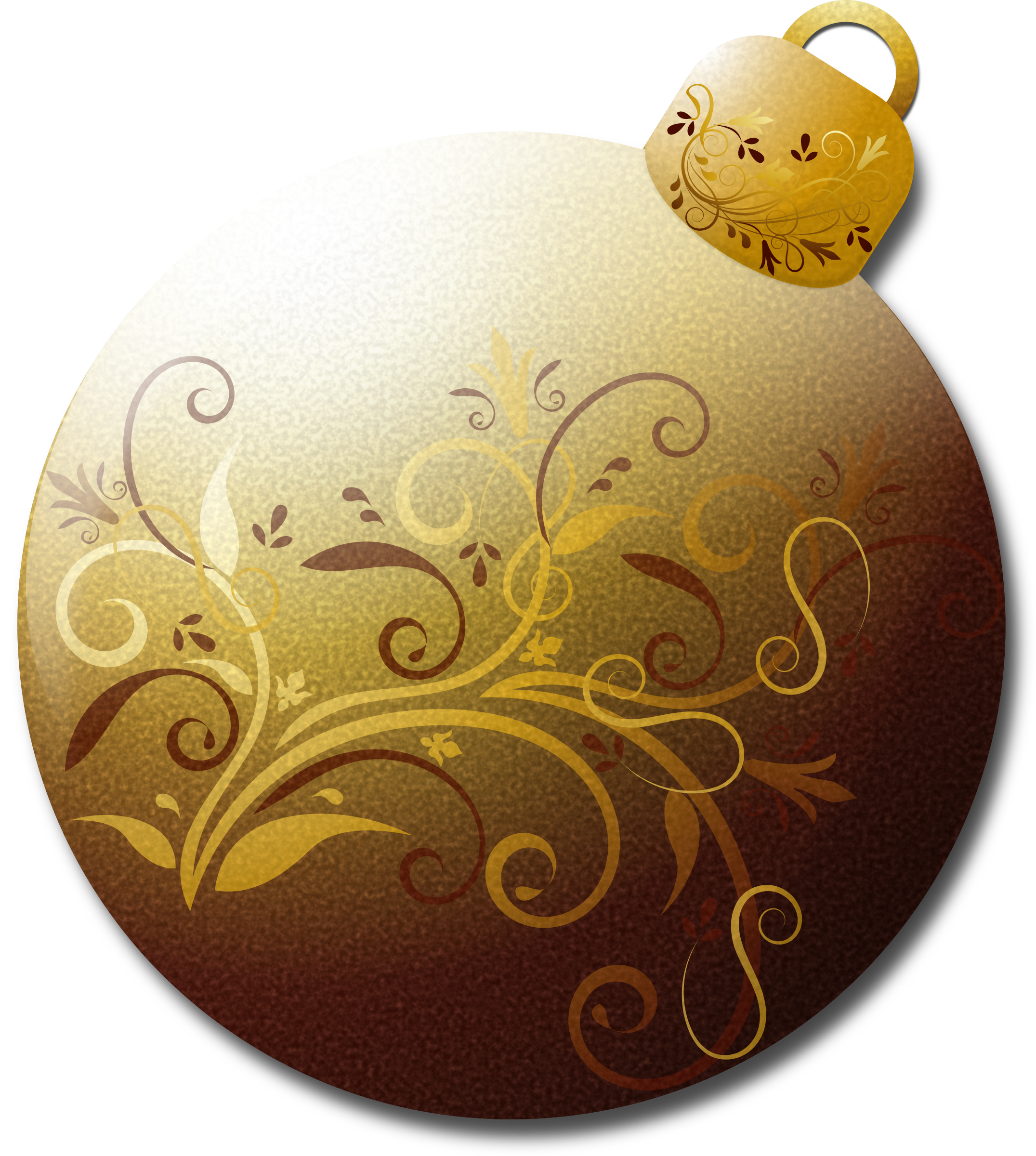 Gold Glass Ornament 1 by Merlin2525