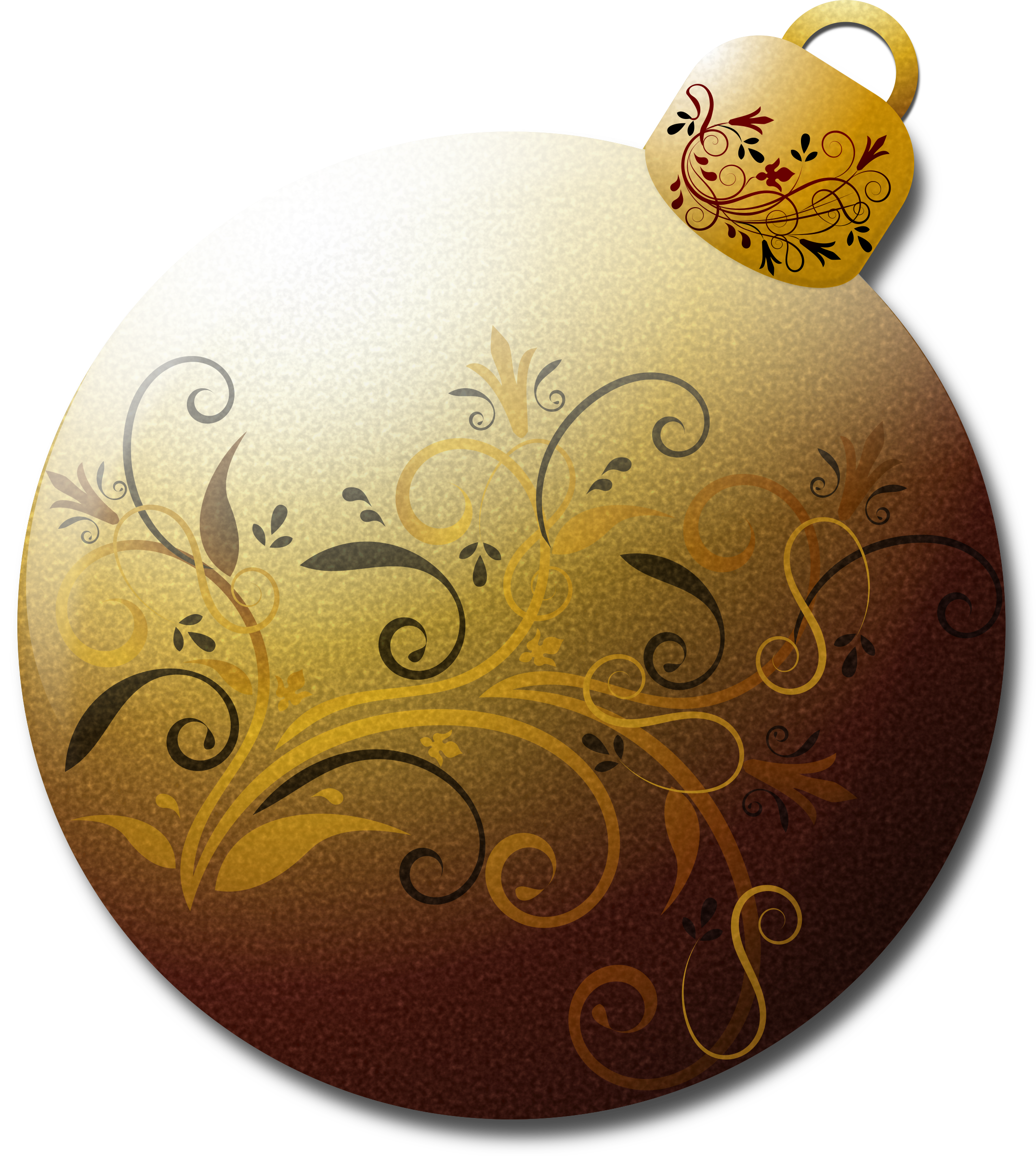 Gold Glass Ornament 2 by Merlin2525