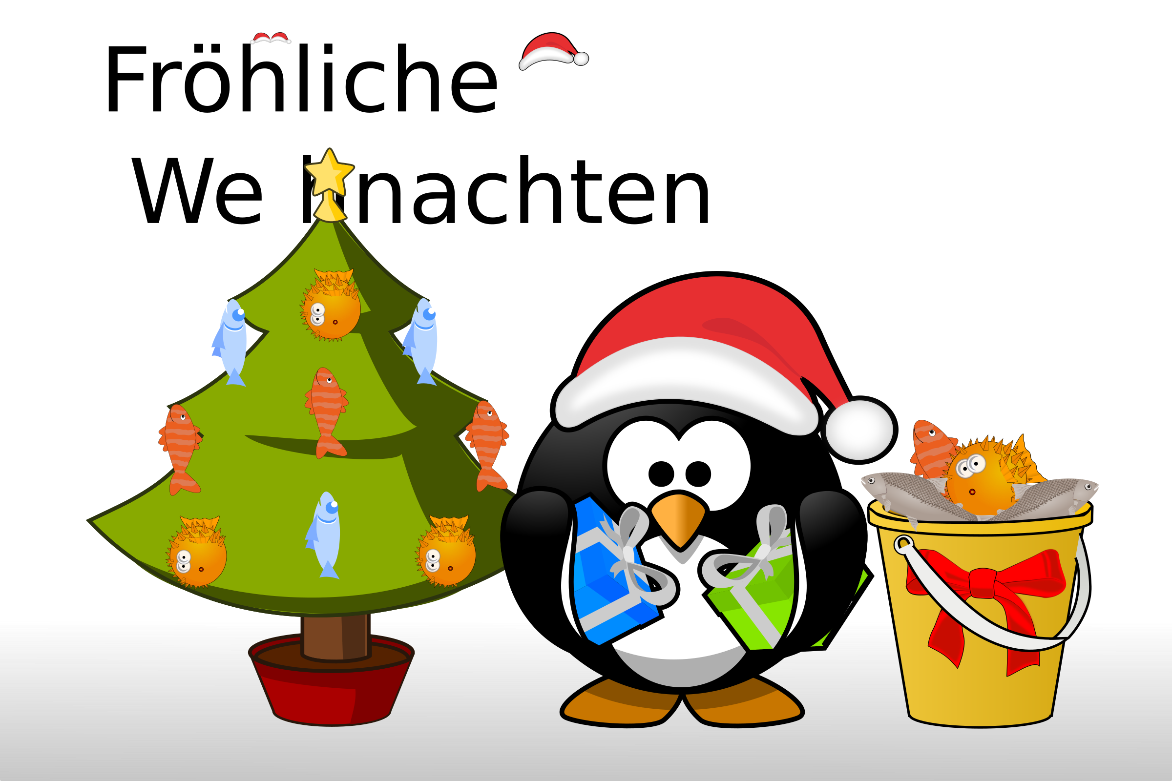 Penguin Xmas card by dodger2