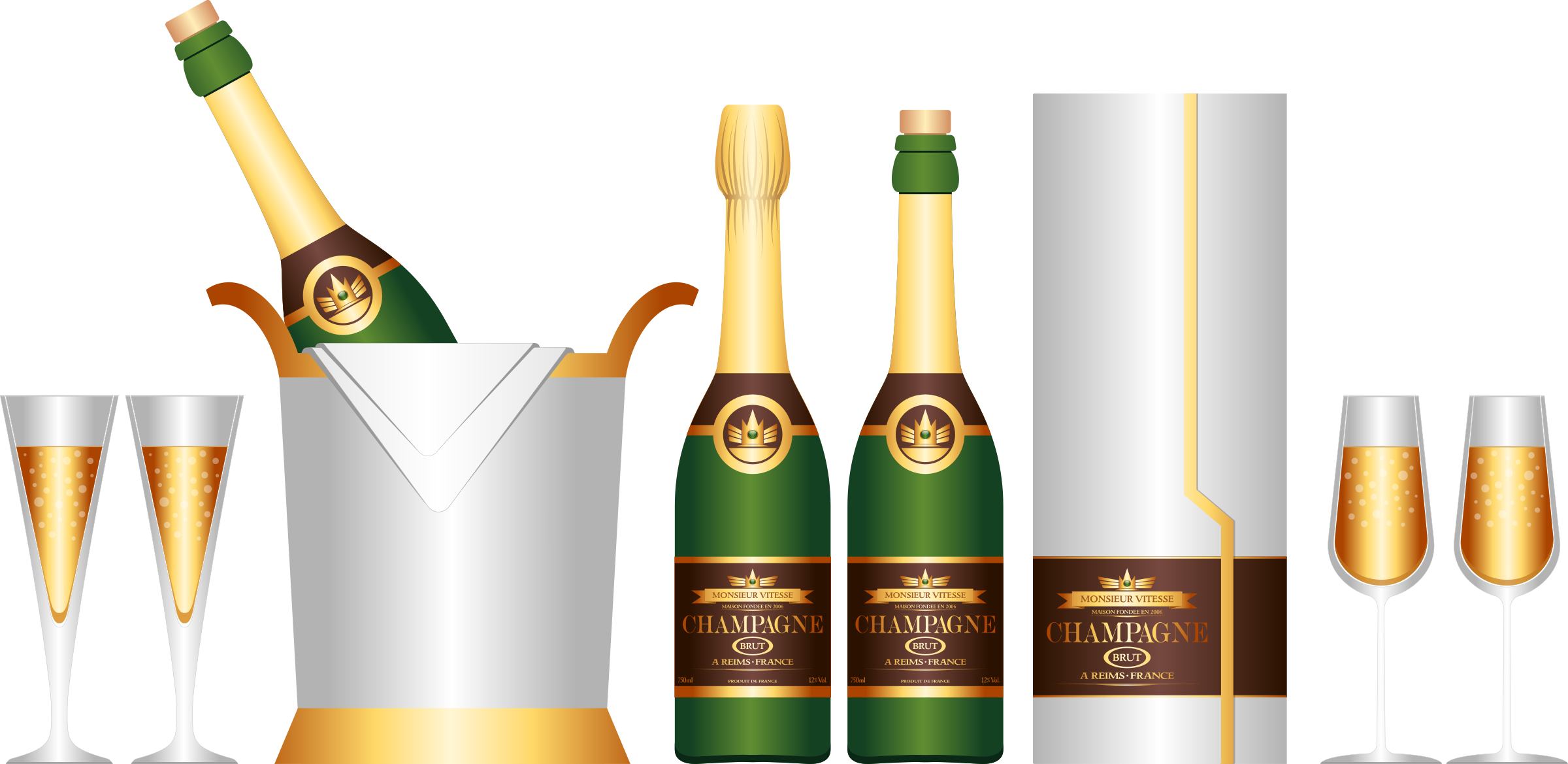 Champagne Set by Viscious-Speed