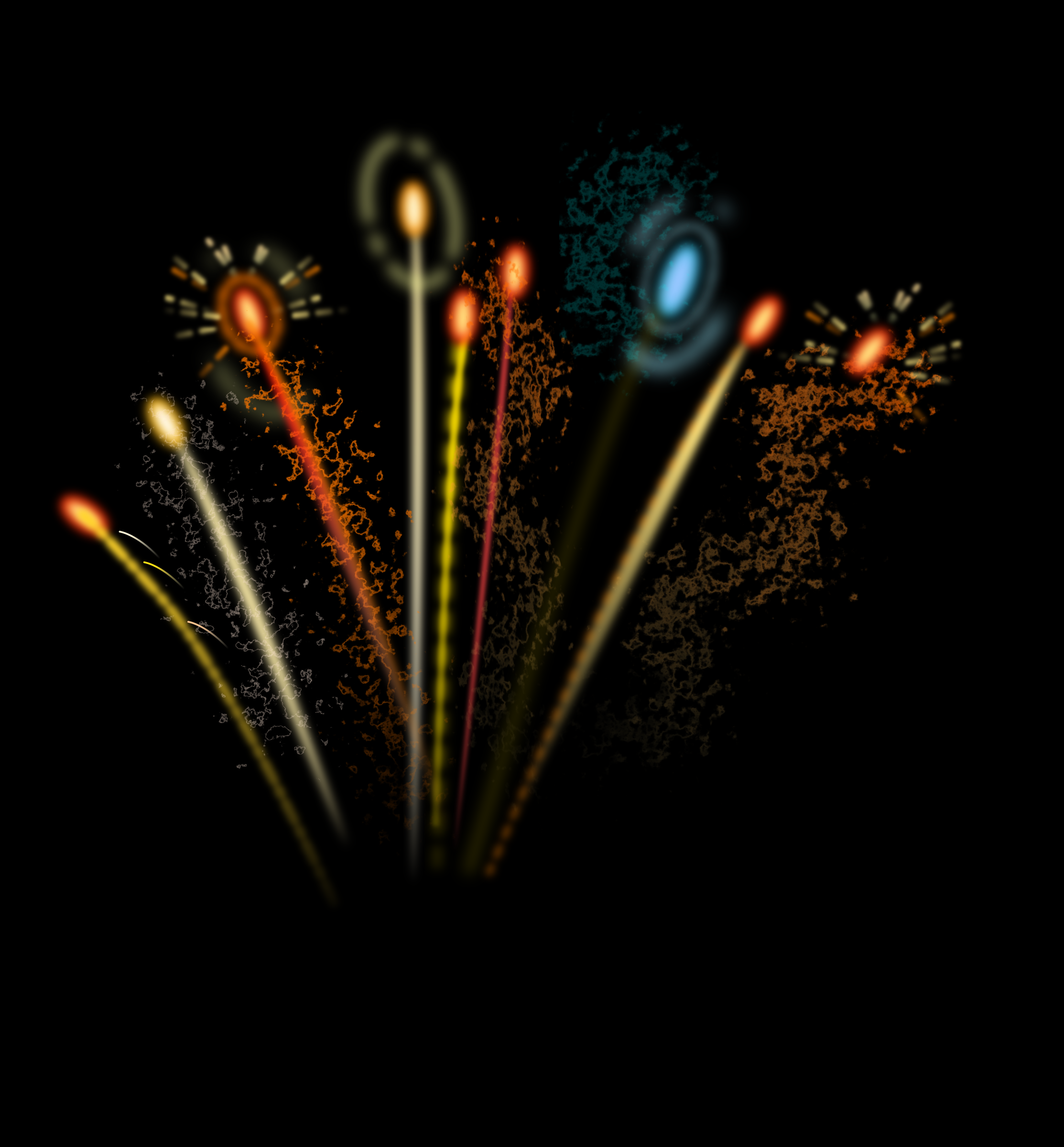 Clipart - Fireworks