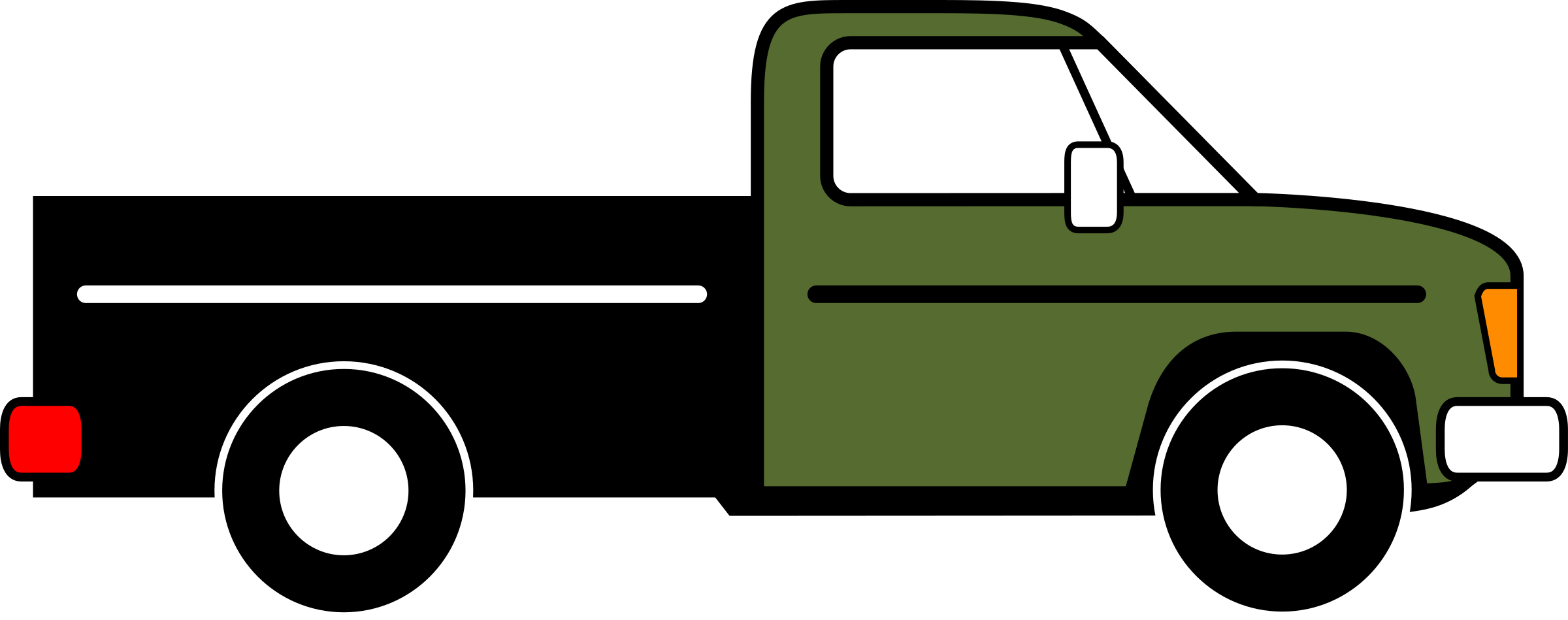 Clipart - Pickup Truck