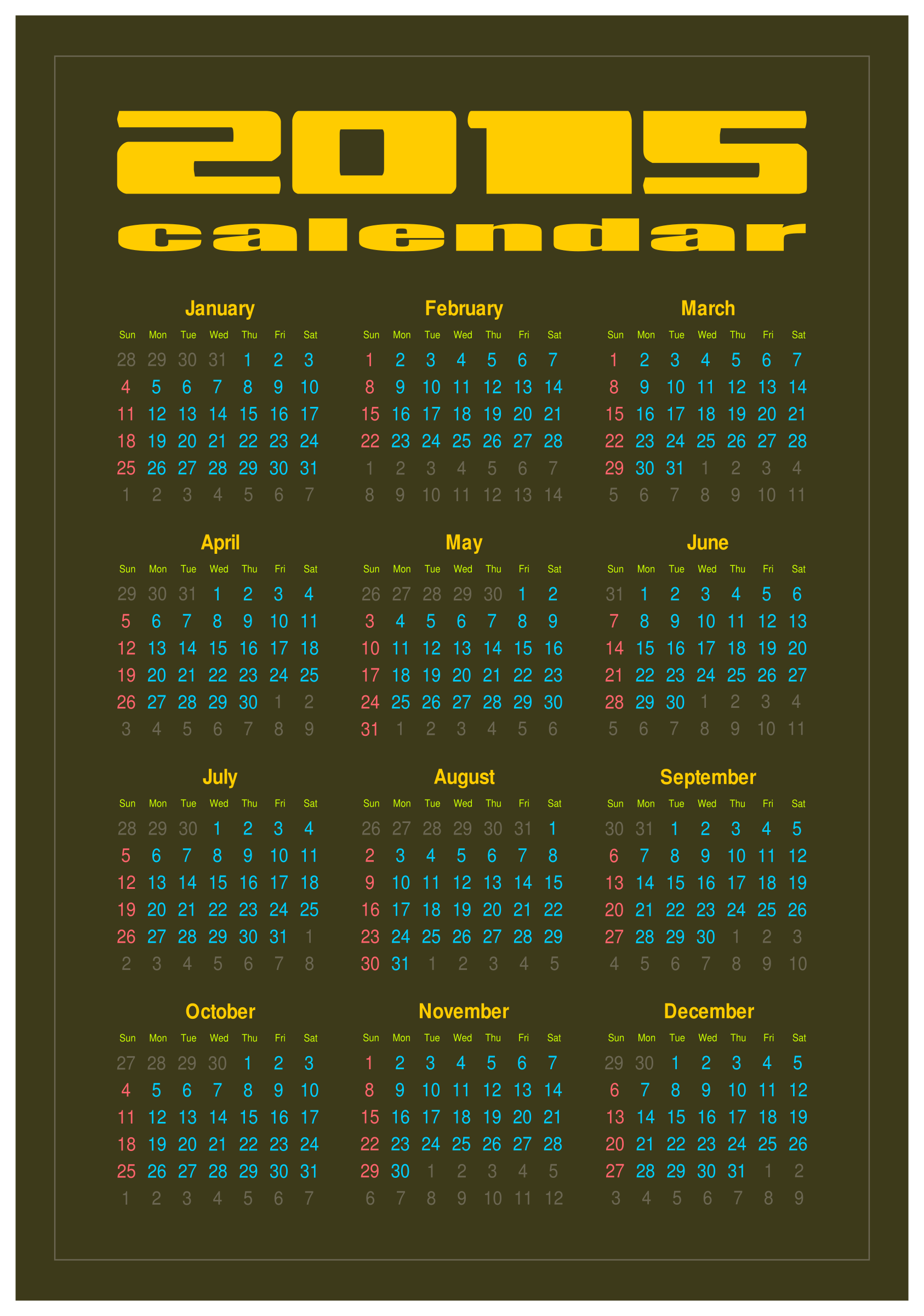 Calendar 2015 by Viscious-Speed