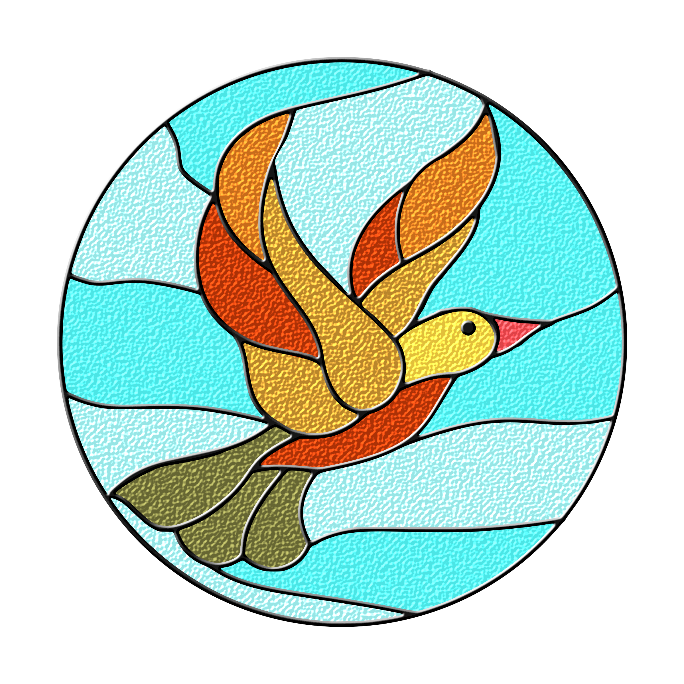 Bird Stained Glass by gustavorezende
