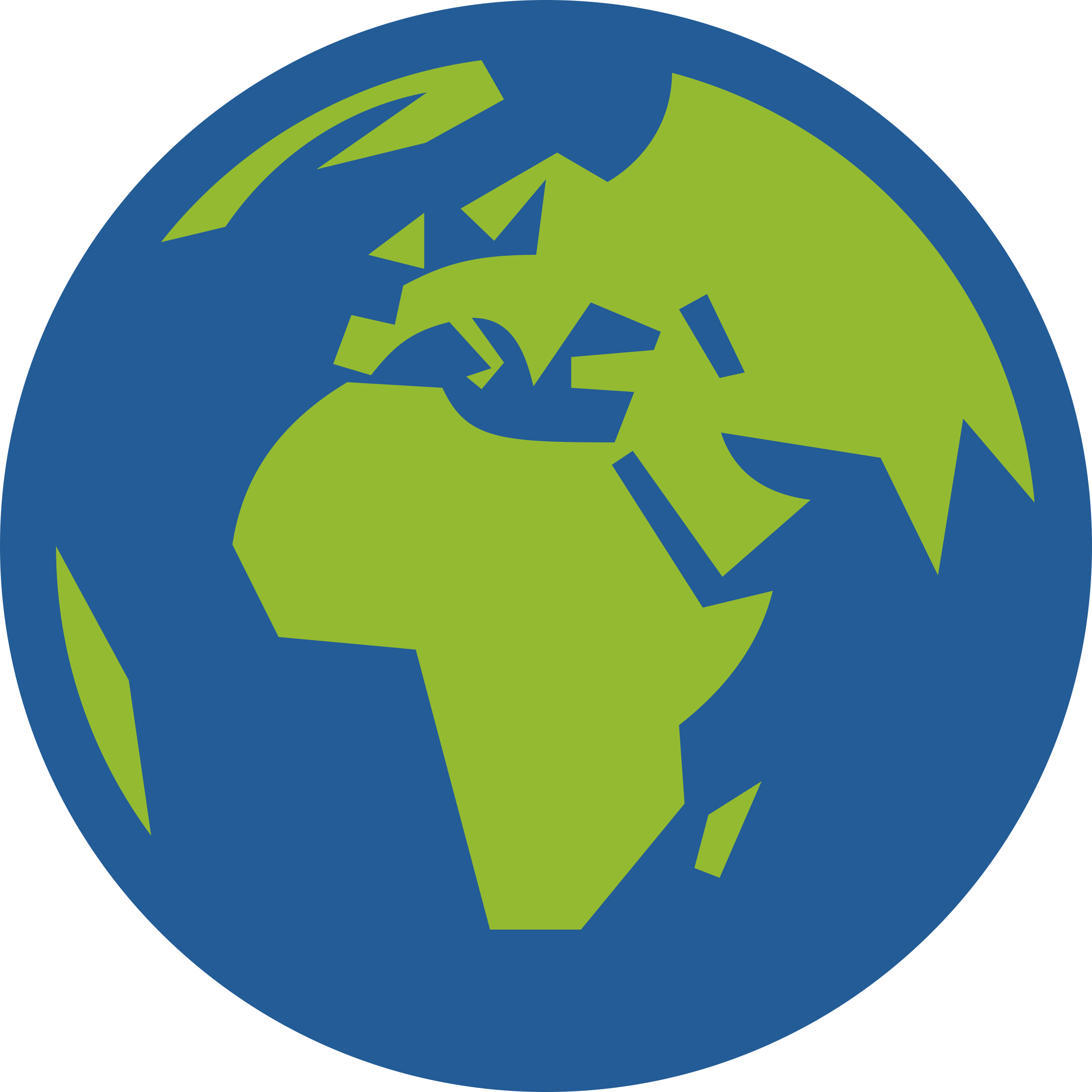 Globe Icon Facing Europe And Africa on Green Environmental Clip Art