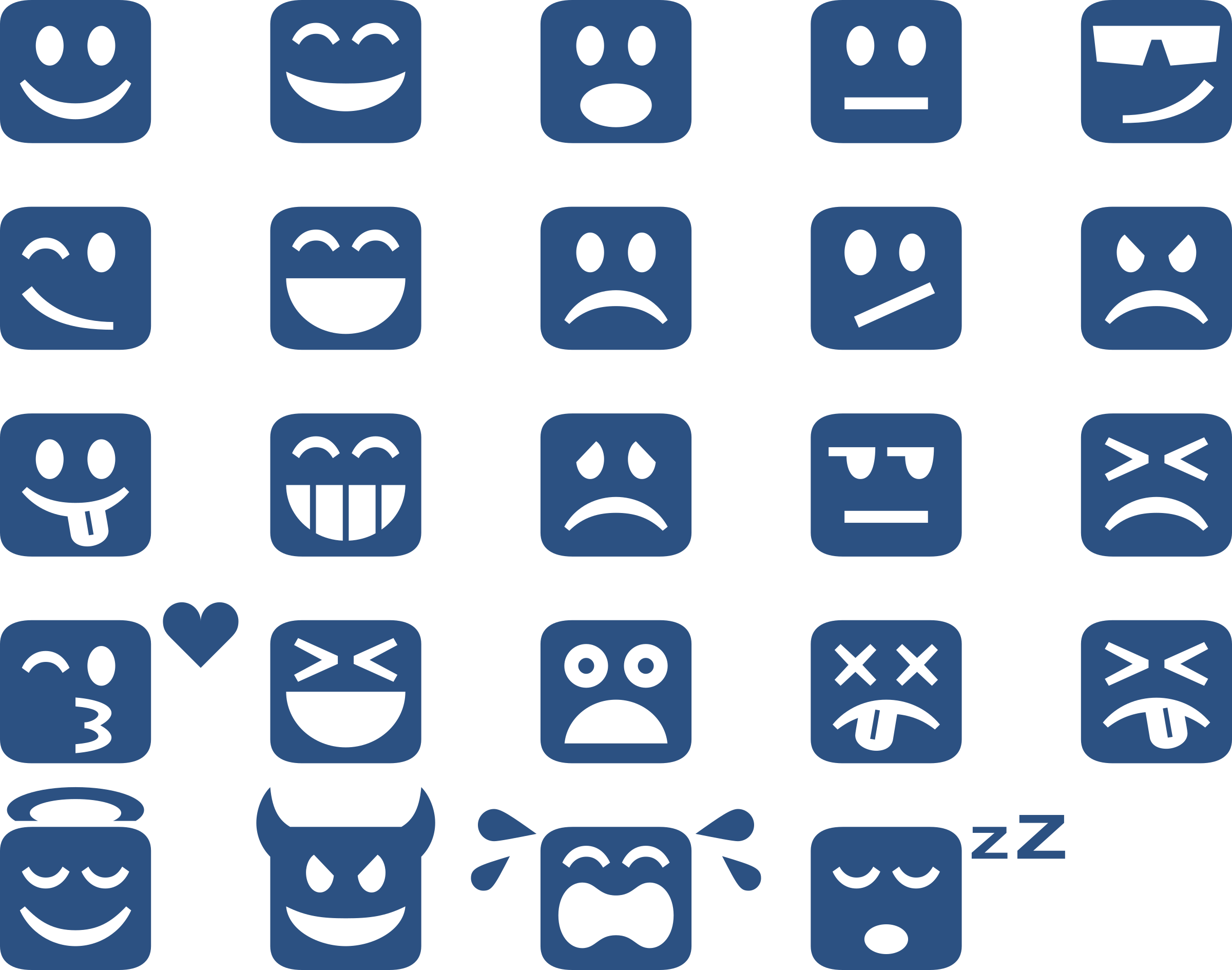 Square Emoticons by Sev