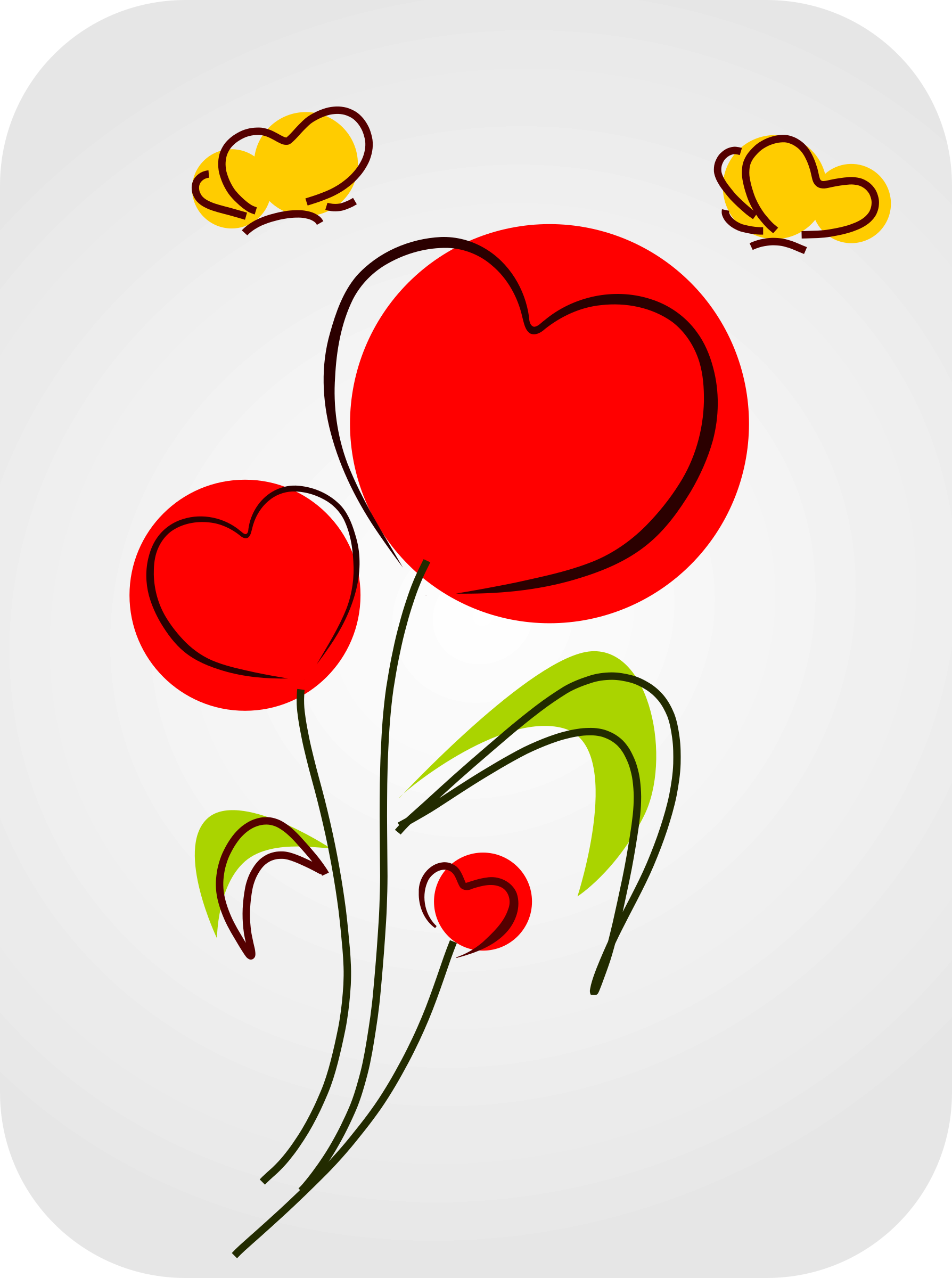 clipart hearts and flowers