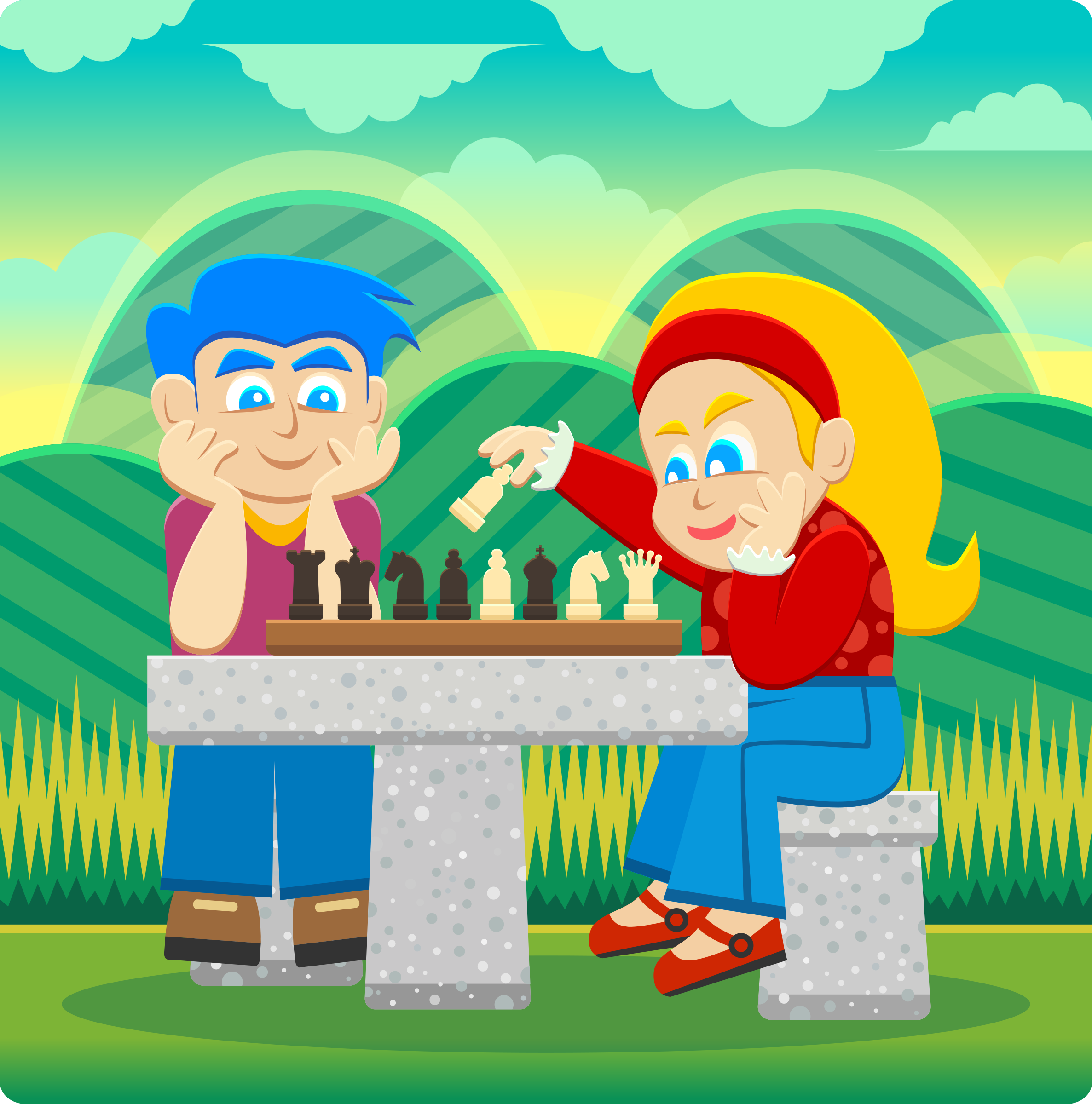 Kids Playing Chess by Viscious-Speed