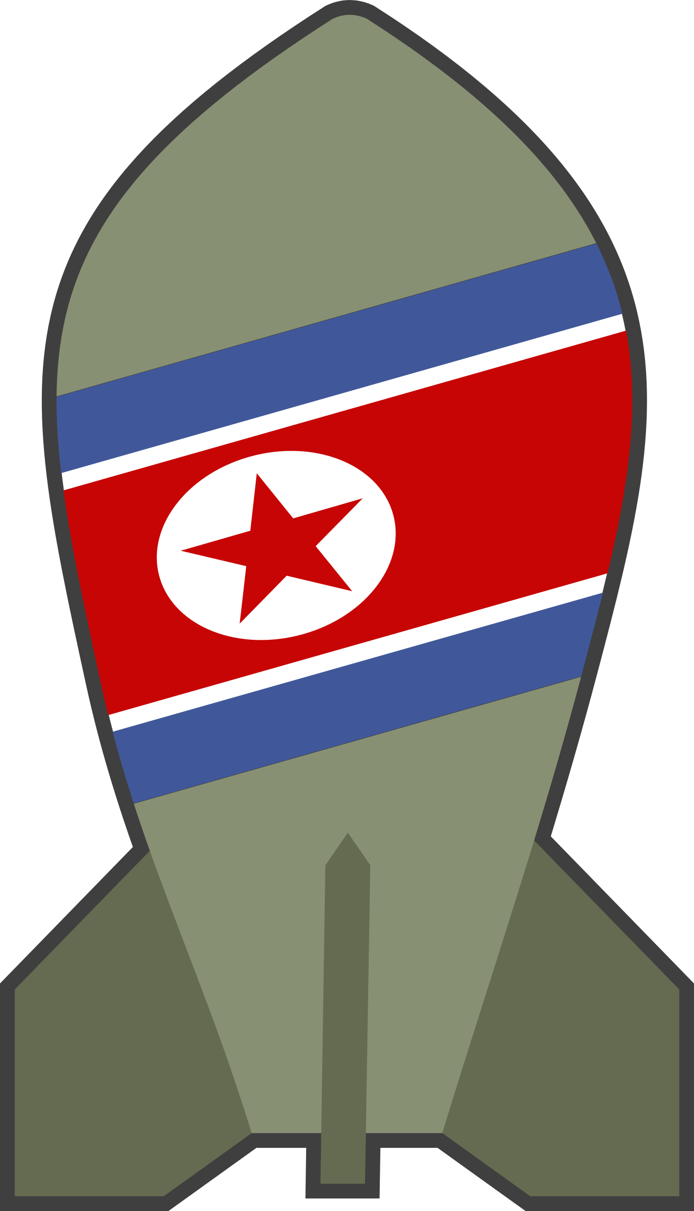 Simple Cartoon North Korea Bomb by qubodup
