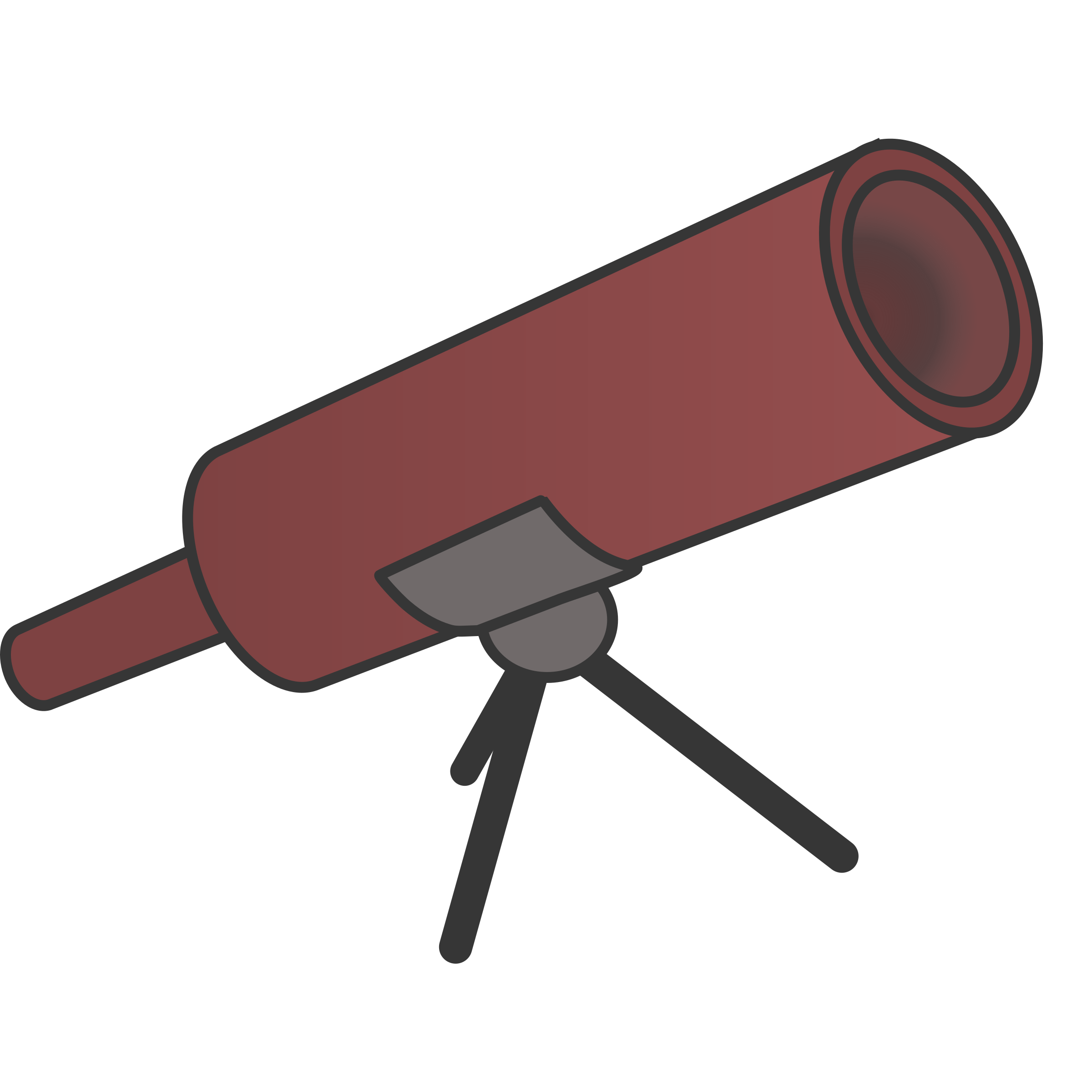 Simple braun cartoony telescope by rdevries