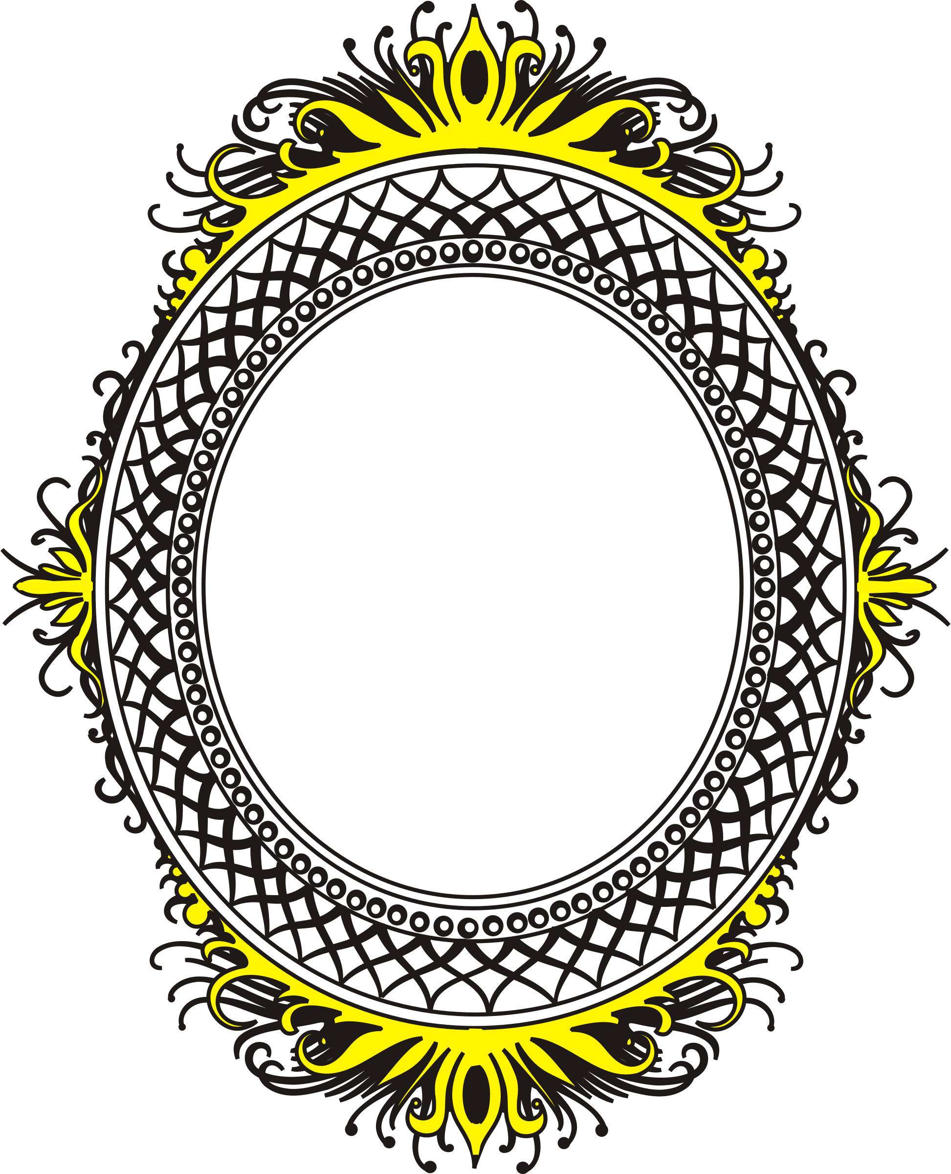 oval frame by buggi