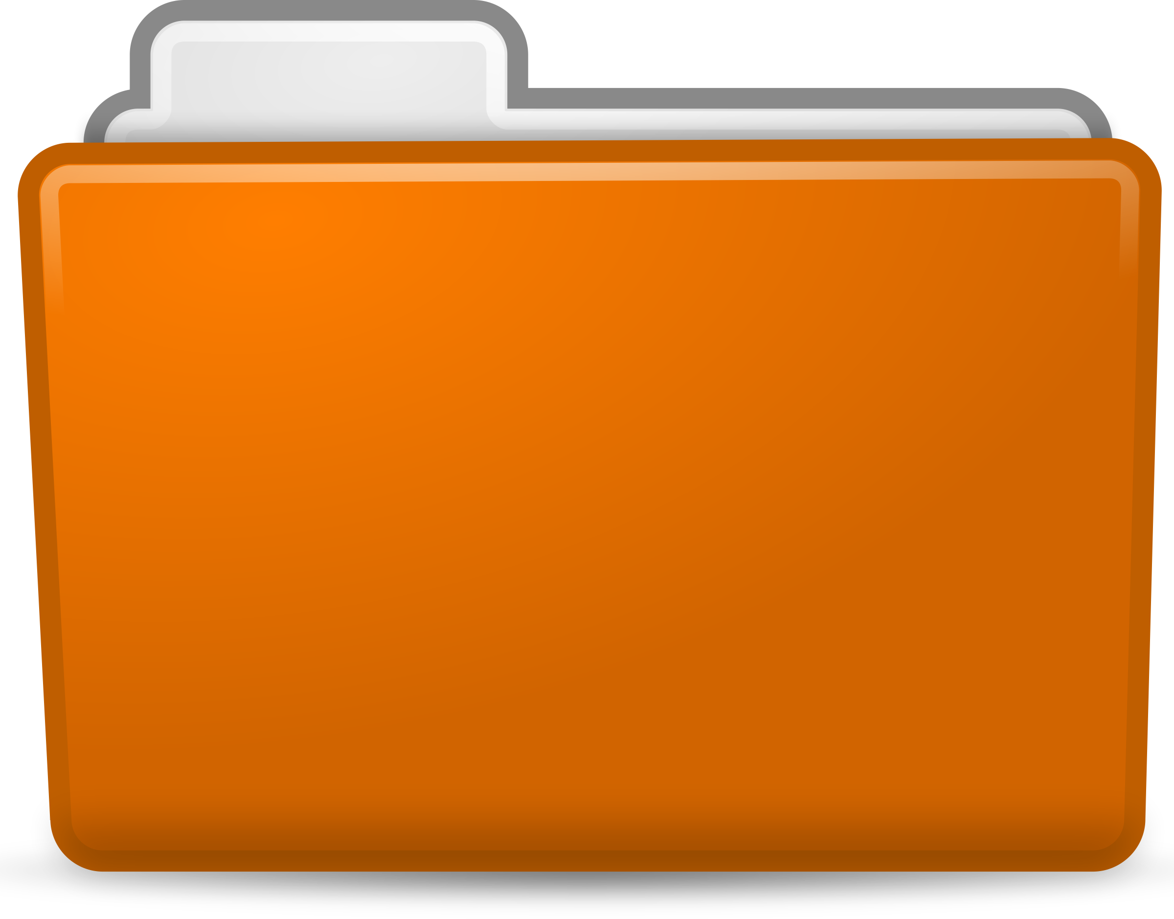 Orange Folder Icon by sixsixfive
