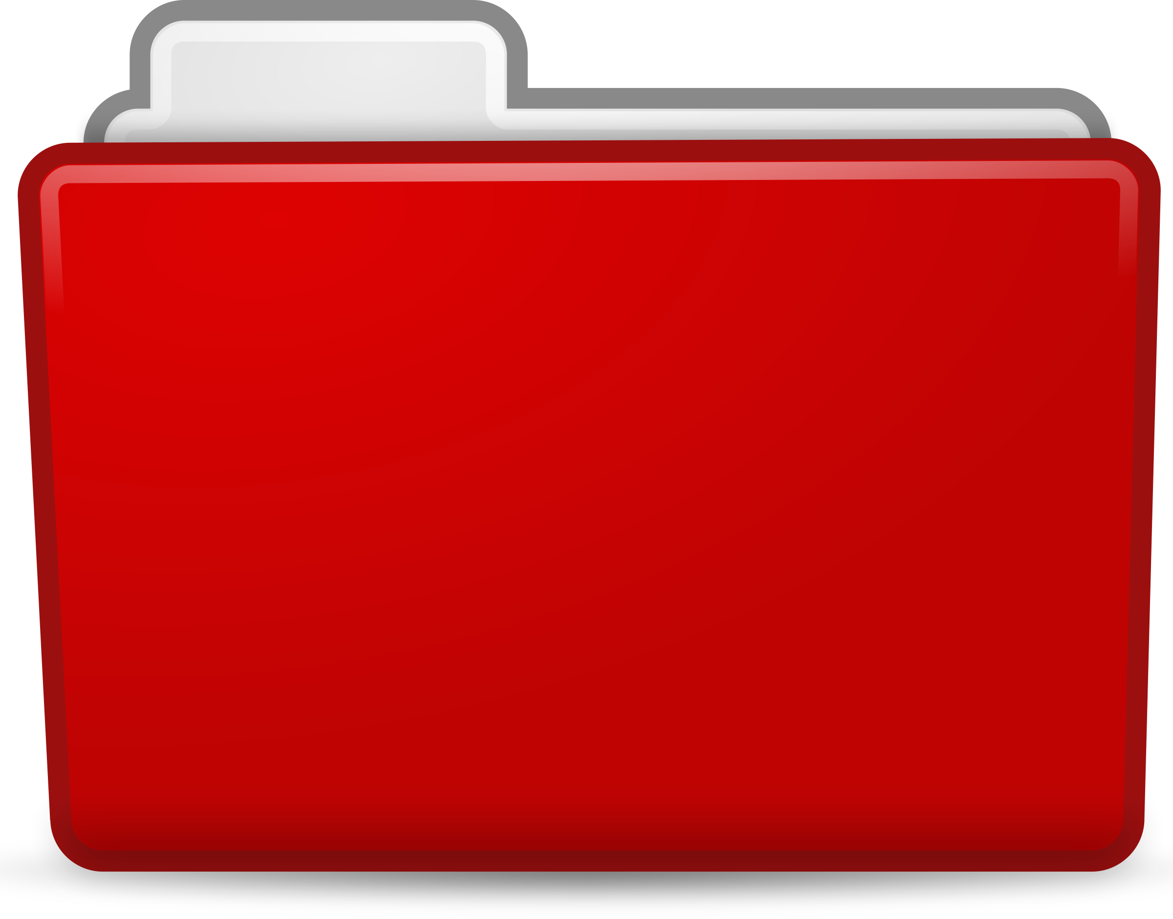 Clipart - Red Folder Icon