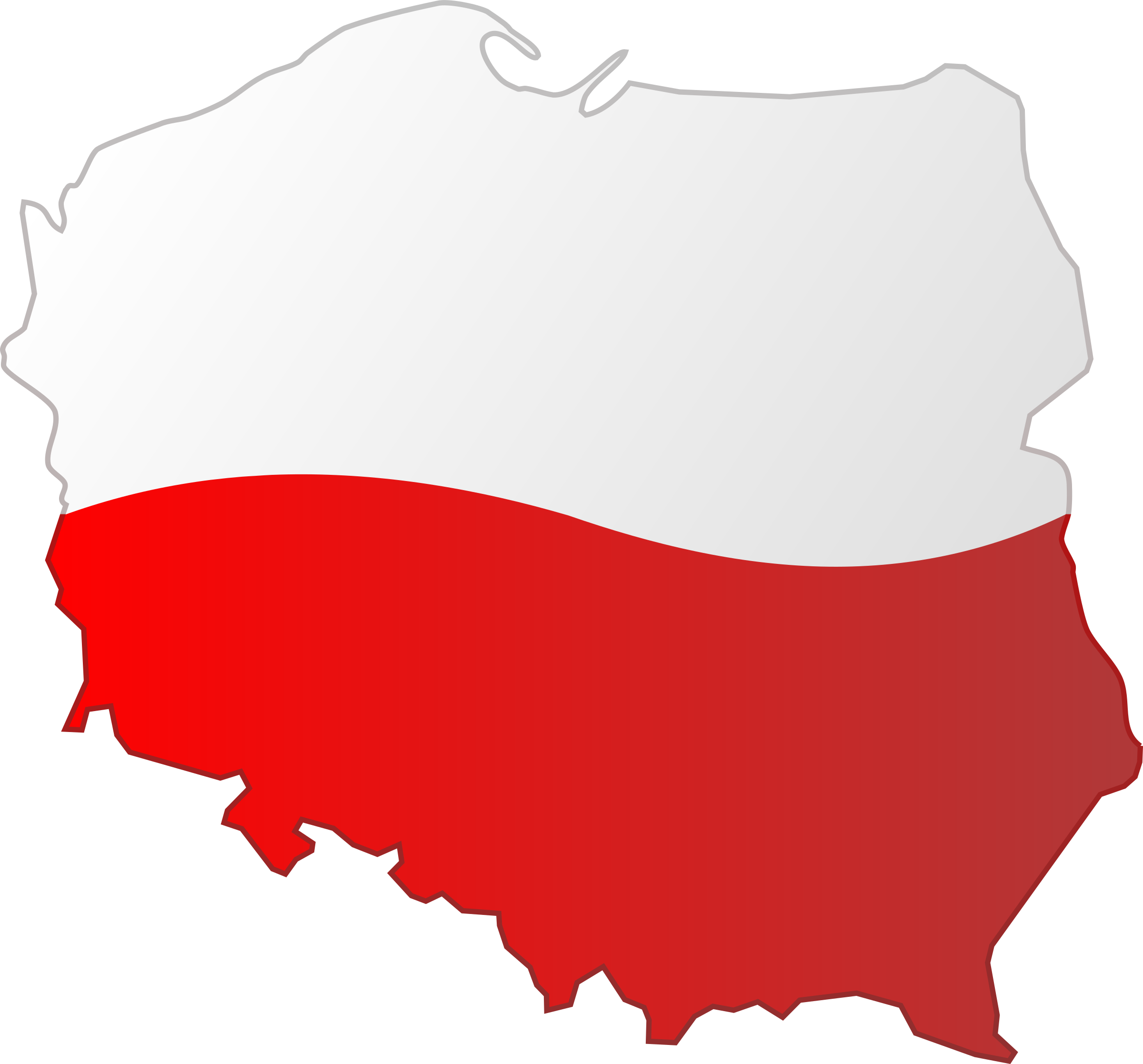 Map of Poland by bocian