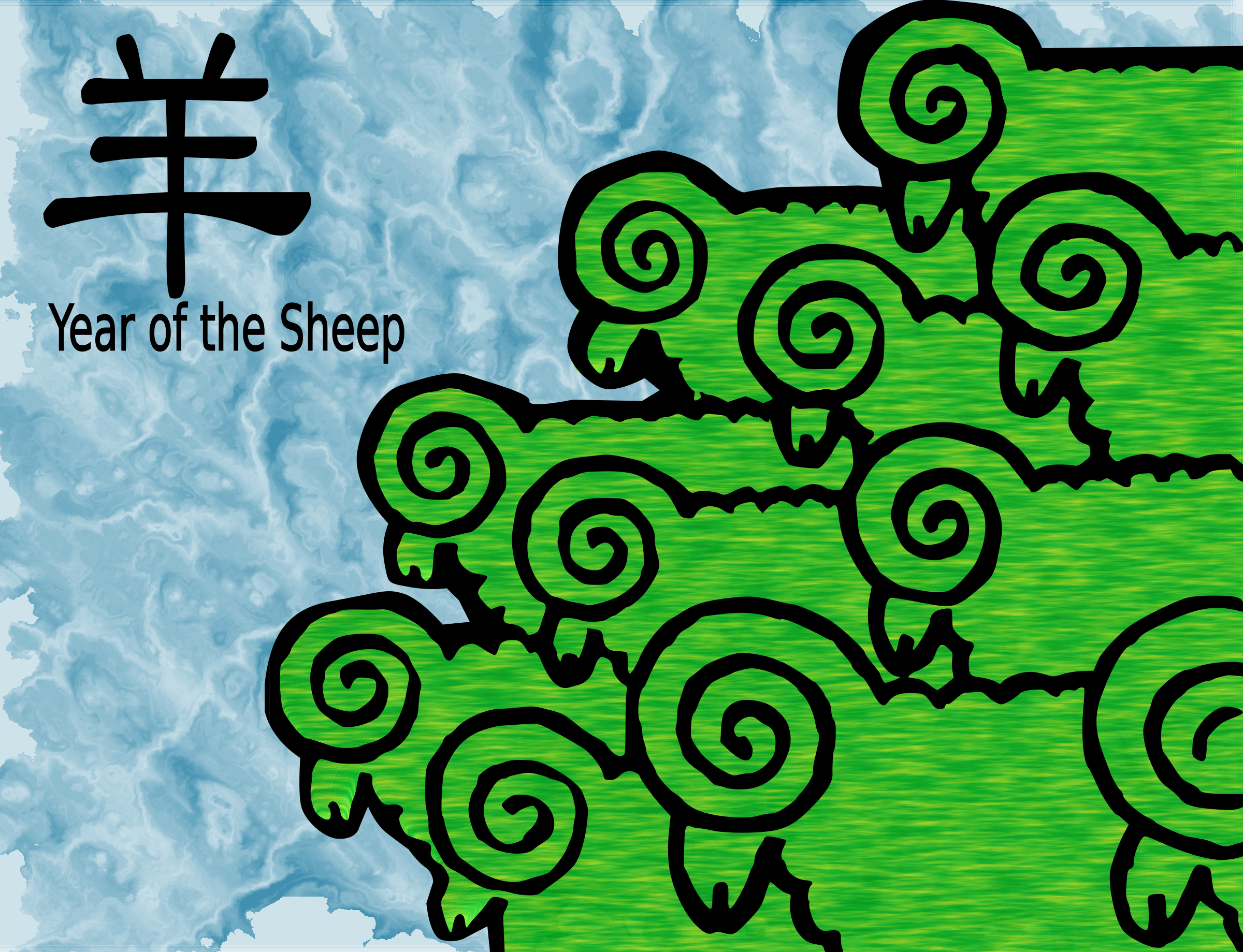 Chinese New Year Green Sheep by dimalique