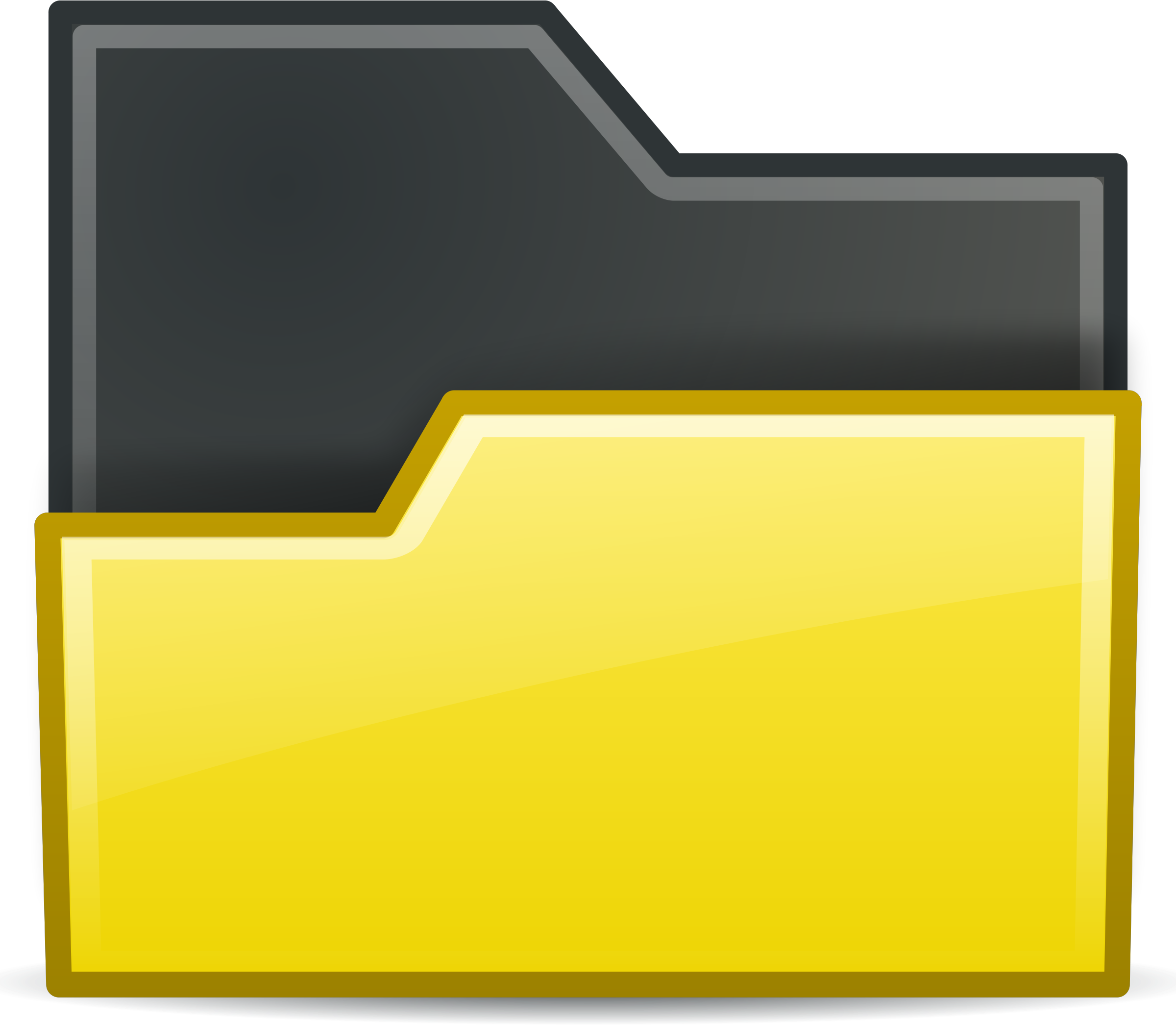 folder yellow open by sixsixfive