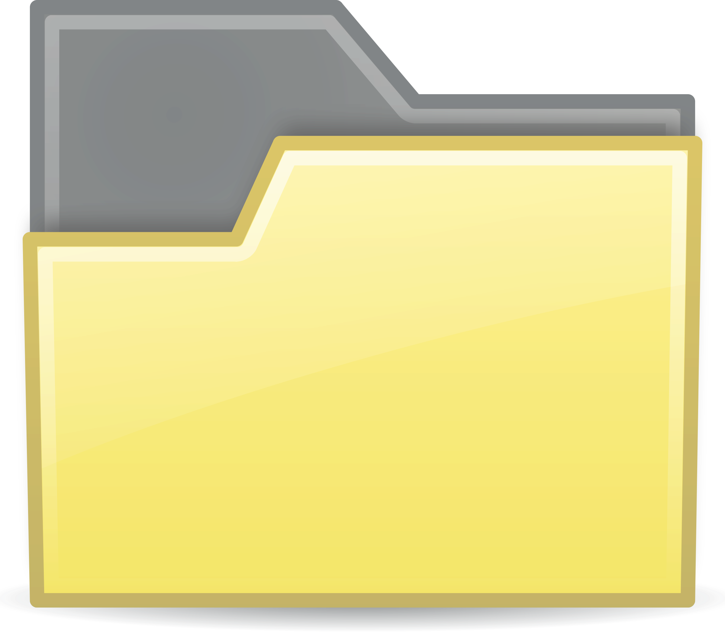 folder yellow semitransparent by sixsixfive